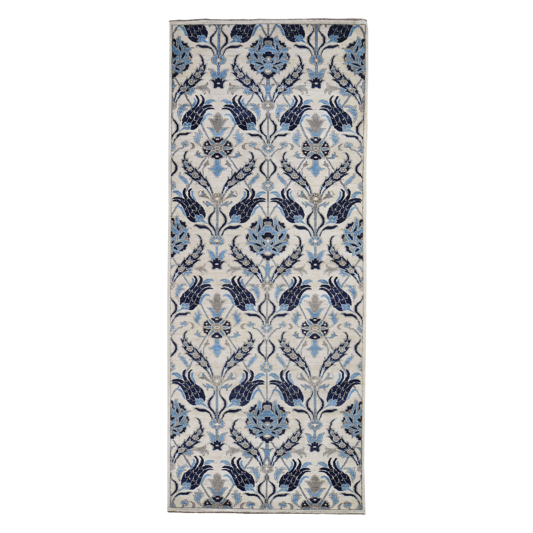 William Morris And Victorian Collection Hand Knotted Blue Rug No: 0194738