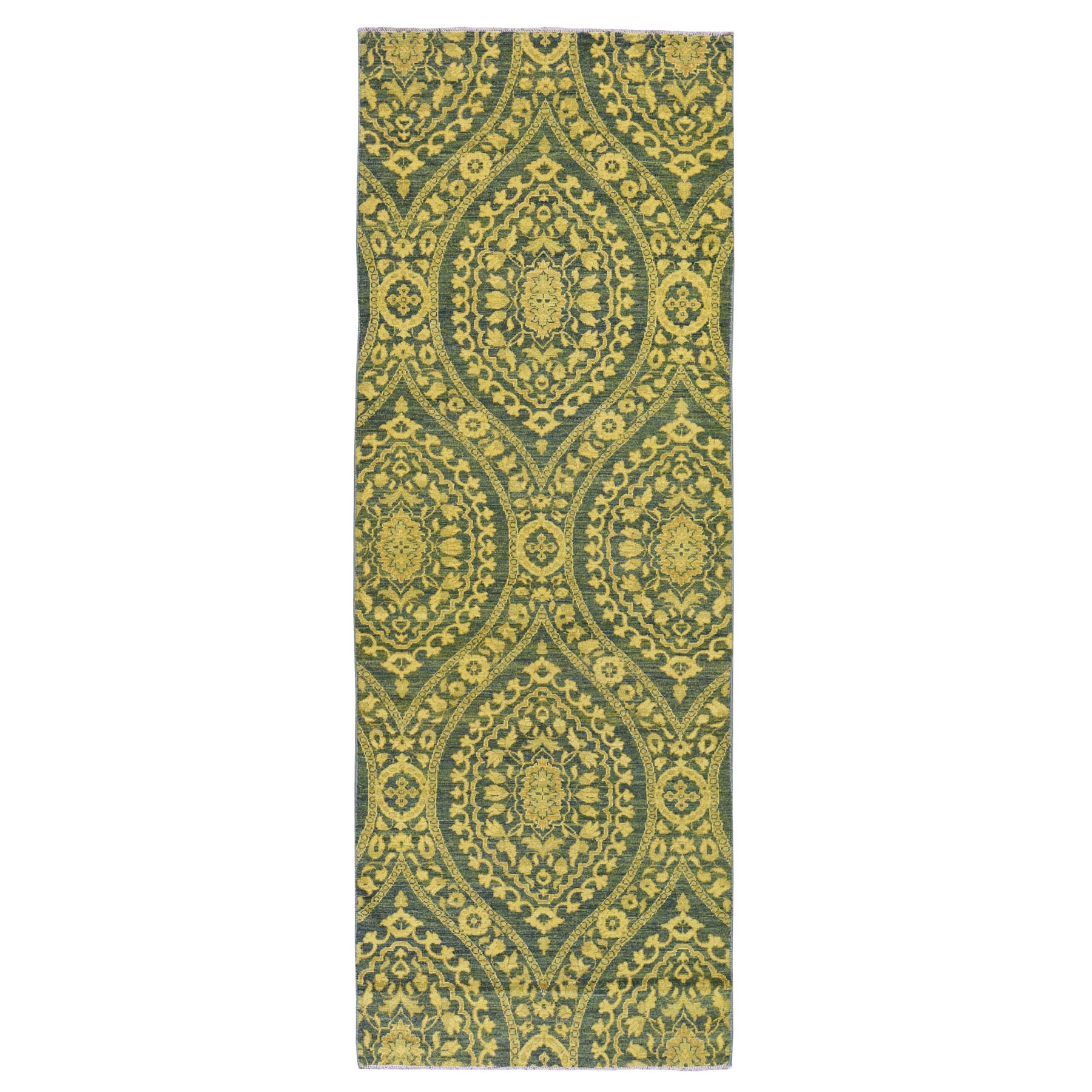 Agra And Turkish Collection Hand Knotted Green Rug No: 0194744
