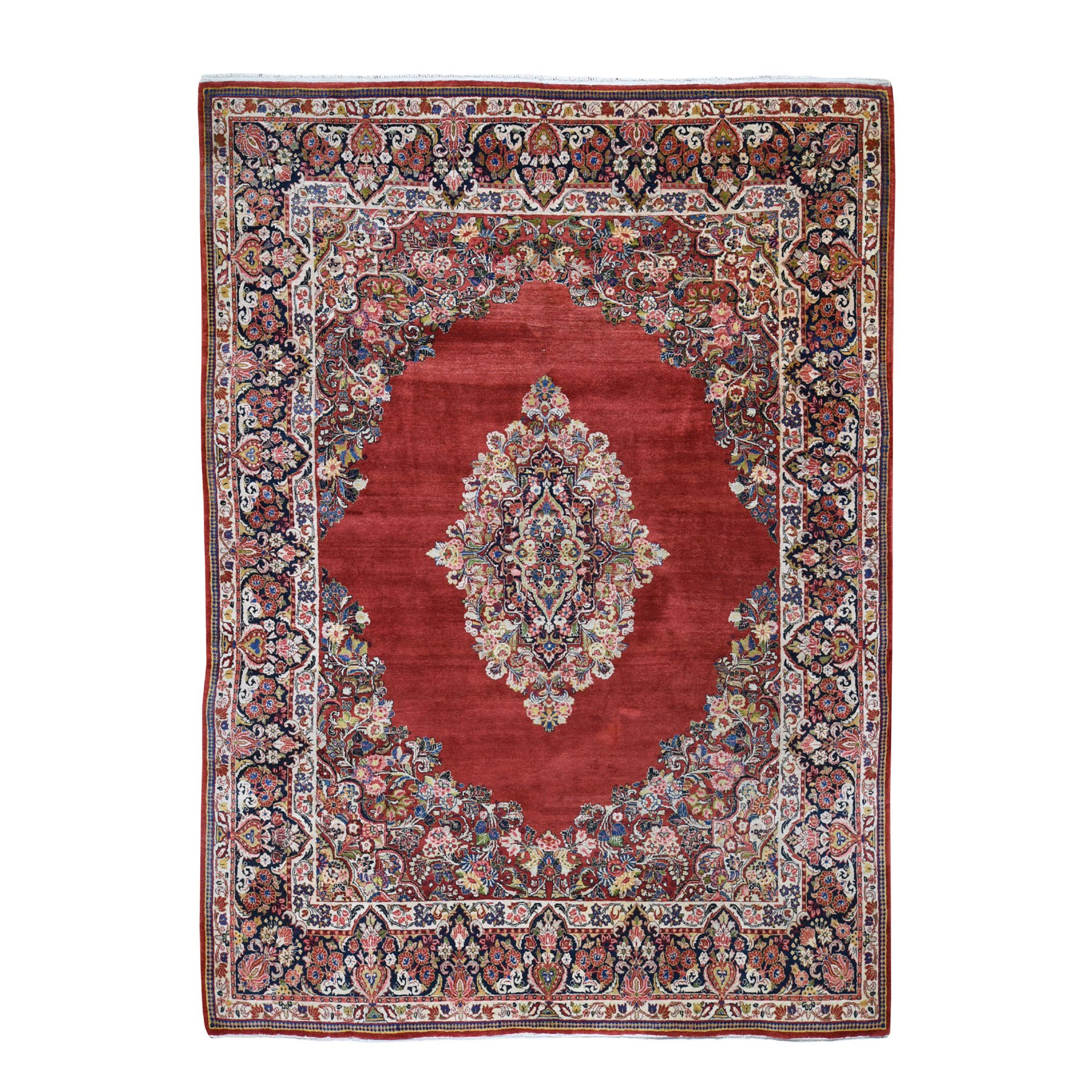 Antique Collection Hand Knotted Red Rug No: 0194750