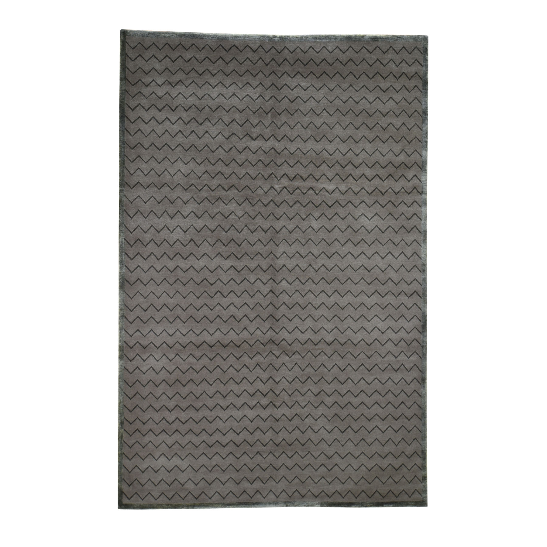 Deep discounted Collection Hand Knotted Brown Rug No: 0194886