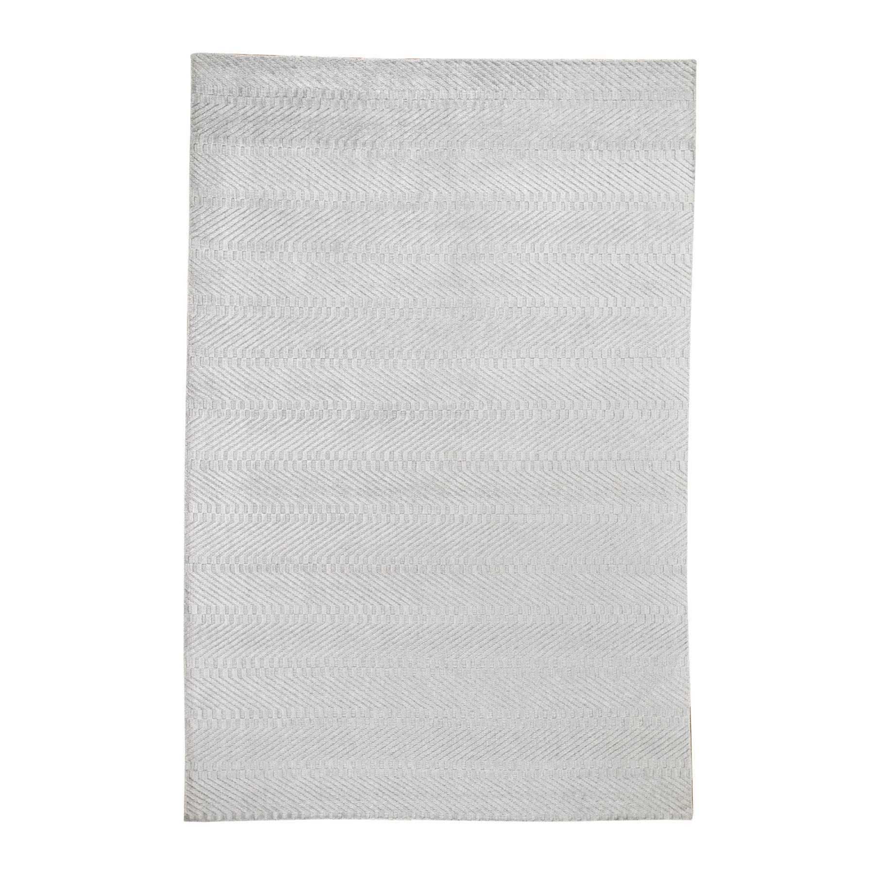 Mid Century Modern Collection Hand Loomed Grey Rug No: 0194888
