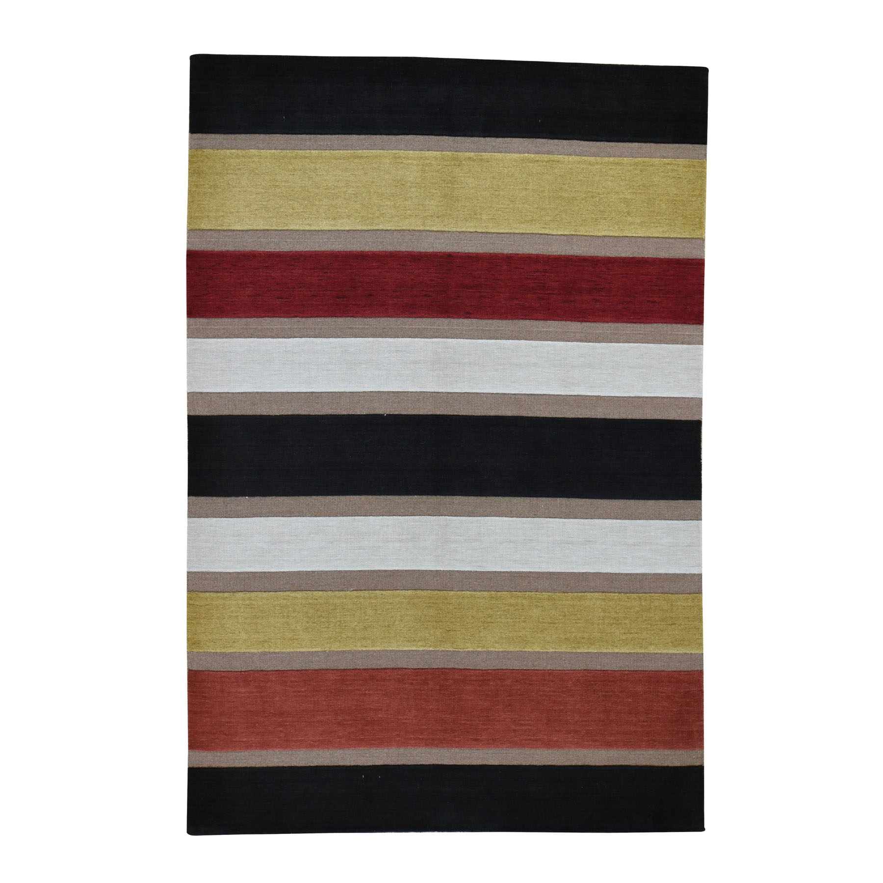 Mid Century Modern Collection Hand Knotted Multicolored Rug No: 0194892