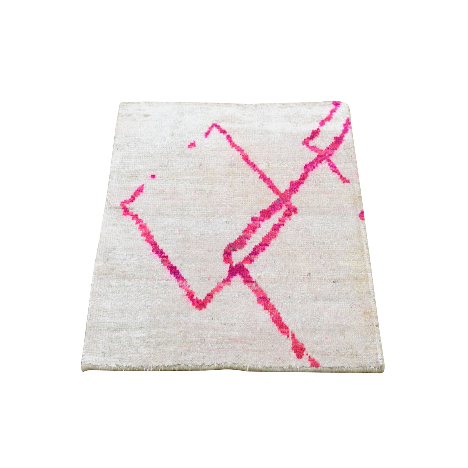 Real Silk Collection Hand Knotted Ivory Rug No: 0194796