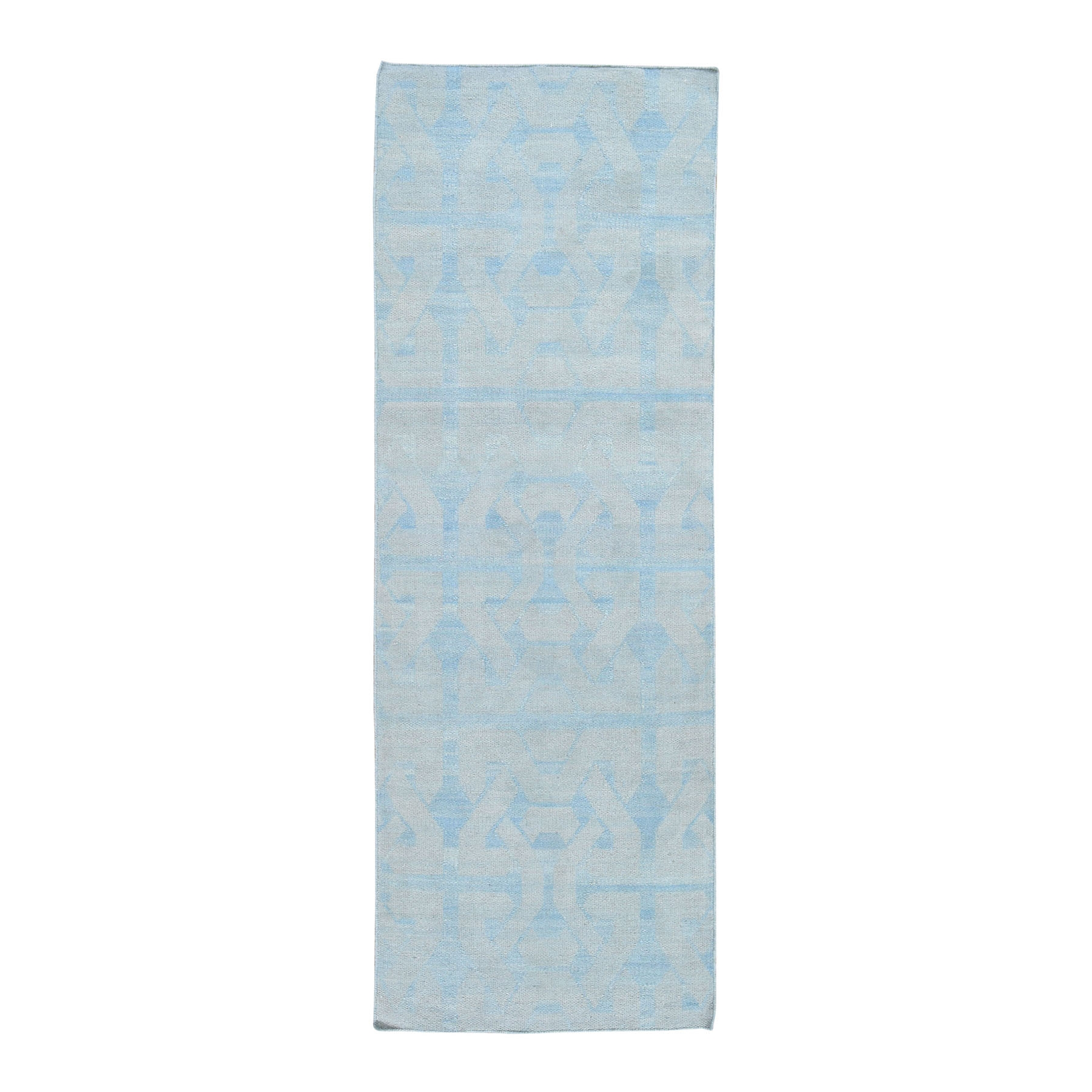 Fine Kilim Collection Hand Woven Blue Rug No: 0194908
