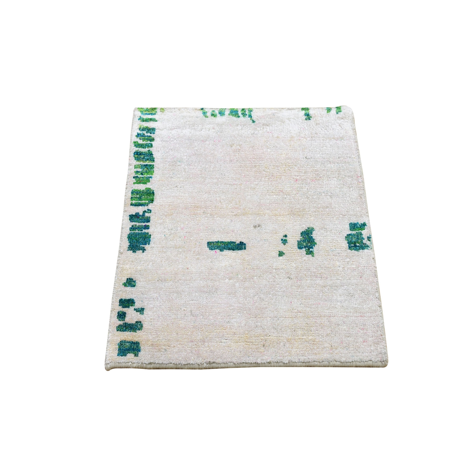 Real Silk Collection Hand Knotted Ivory Rug No: 0194794