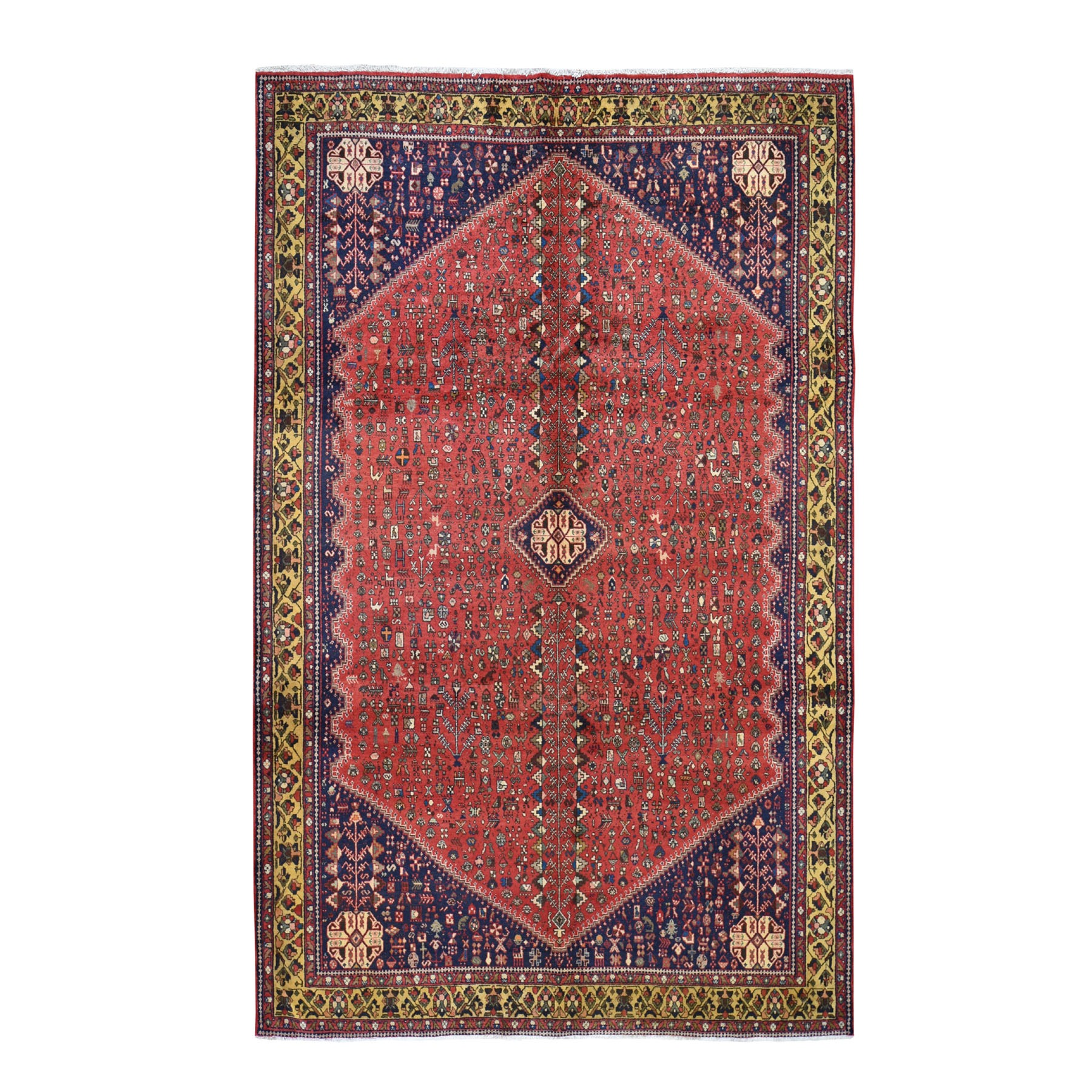 Classic Persian Collection Hand Knotted Red Rug No: 0194836