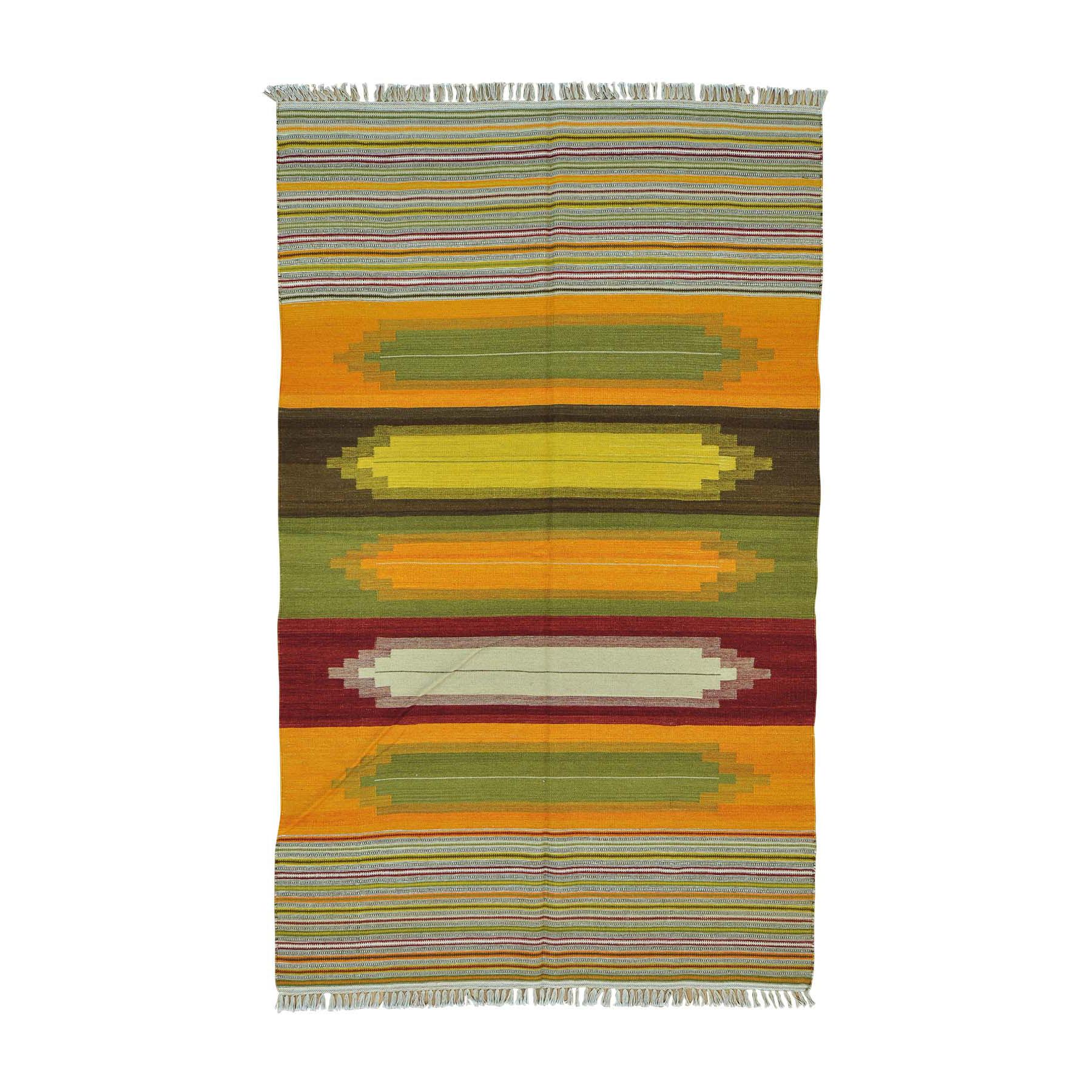 Fine Kilim Collection Hand Woven Multicolored Rug No: 0160096
