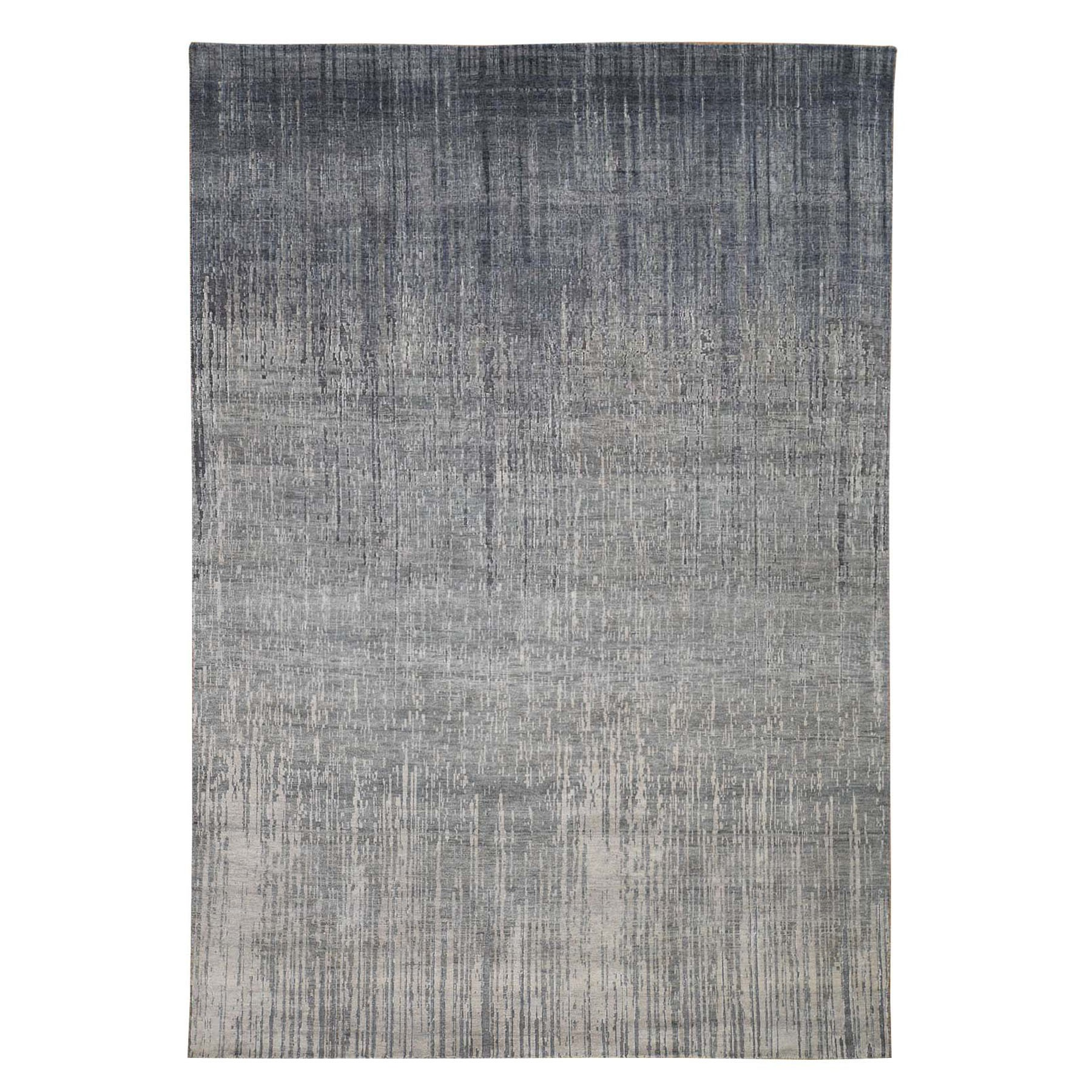 Mid Century Modern Collection Hand Knotted Grey Rug No: 0195248