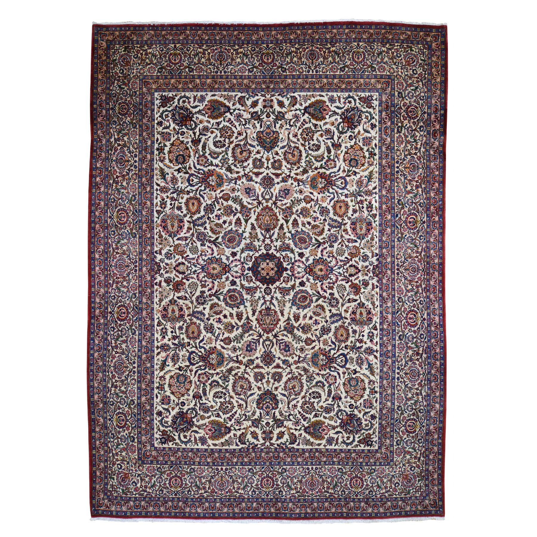 Antique Collection Hand Knotted Ivory Rug No: 0195402