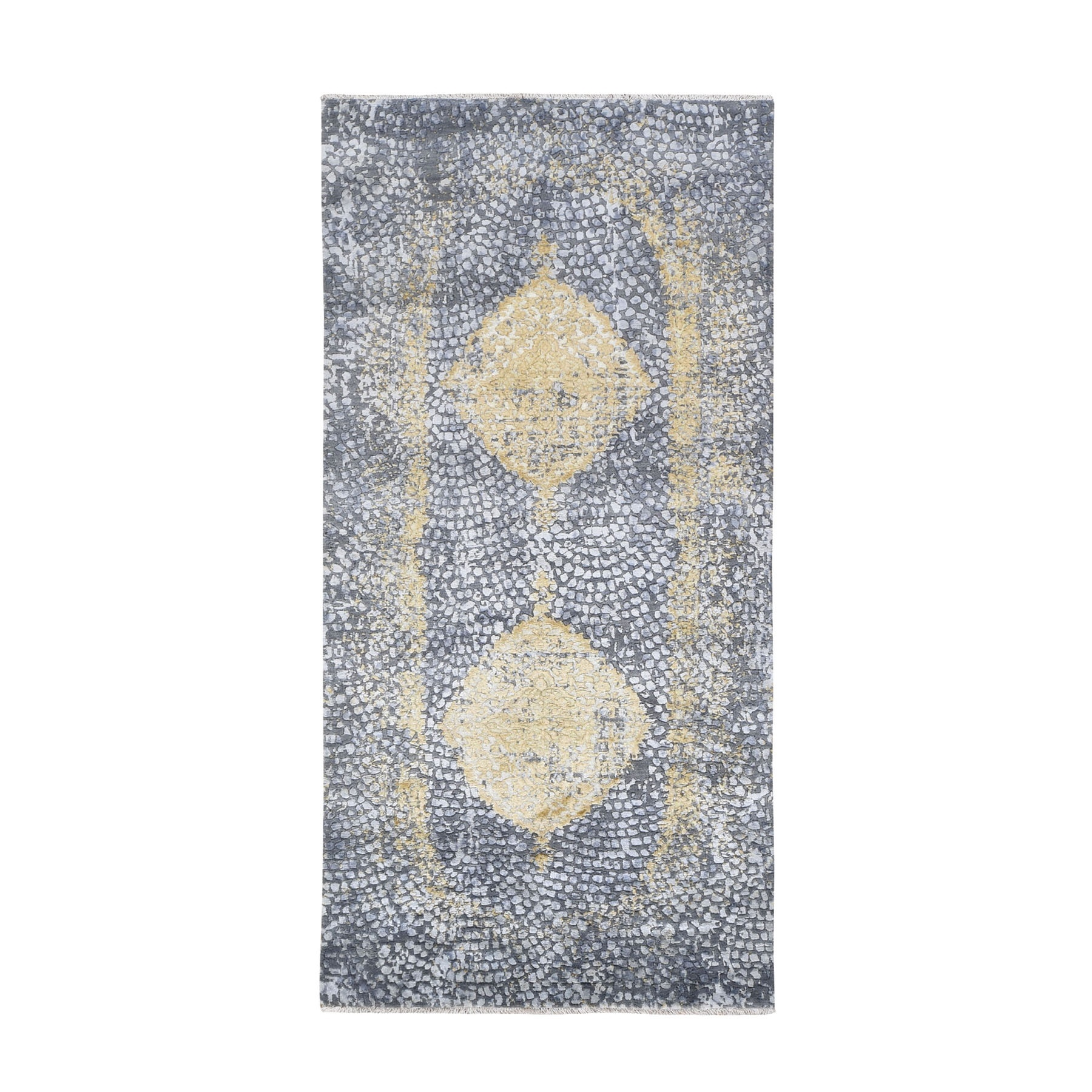 Transitional Hand Knotted Grey Rug No: 0195048