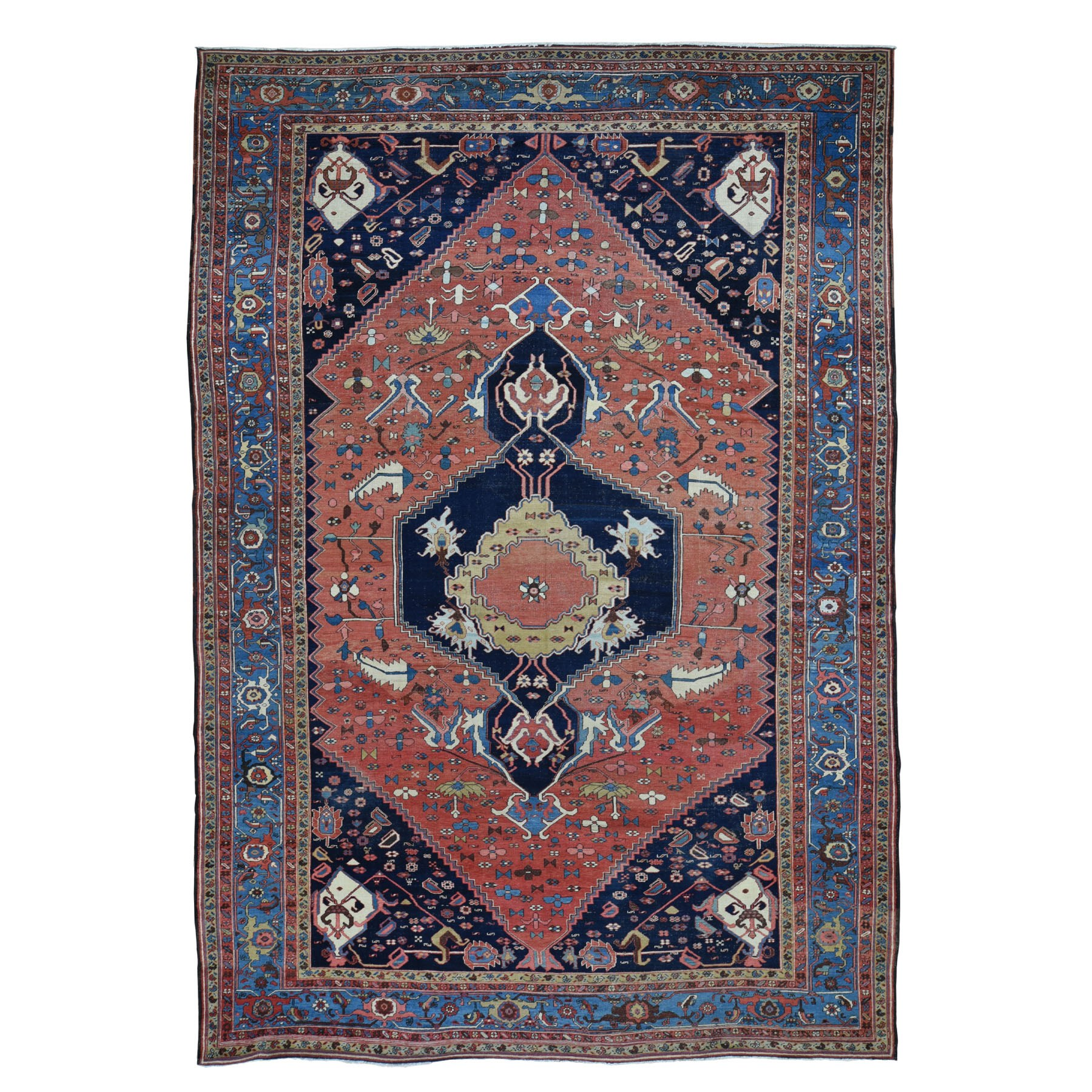 Antique Collection Hand Knotted Red Rug No: 0195136