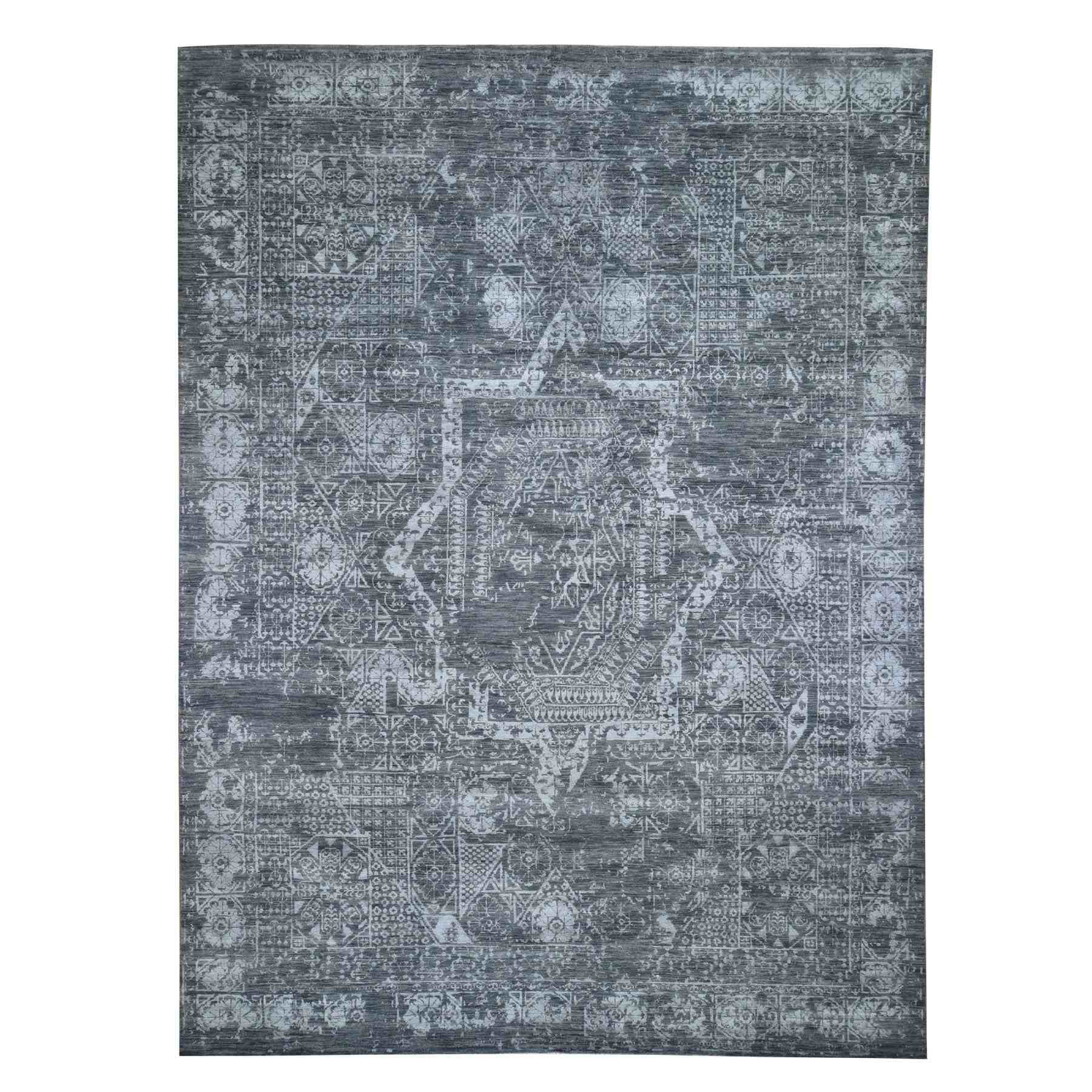 Intricate Collection Hand Knotted Grey Rug No: 0195508