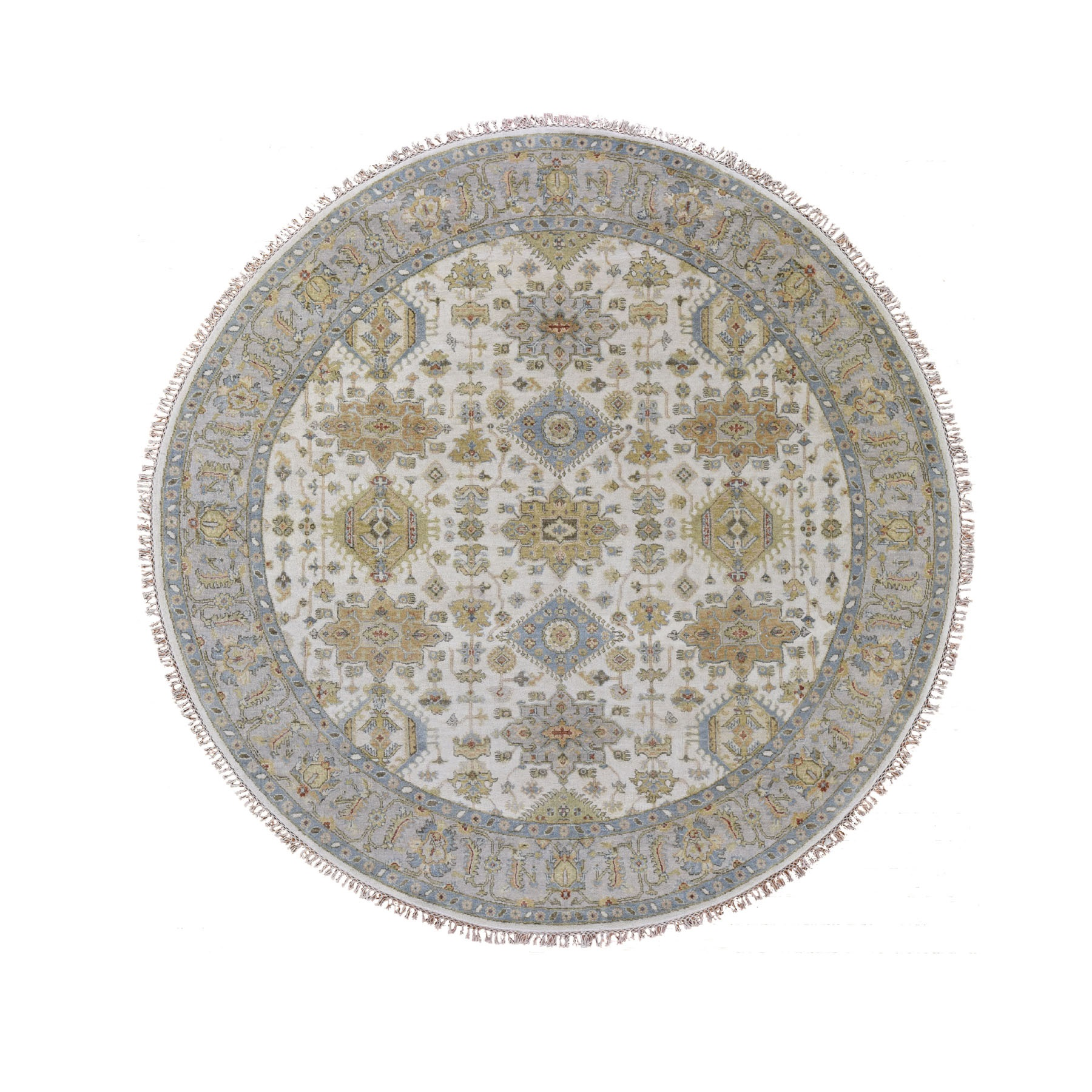 Serapi Heriz and Bakhshayesh Collection Hand Knotted Ivory Rug No: 0195520