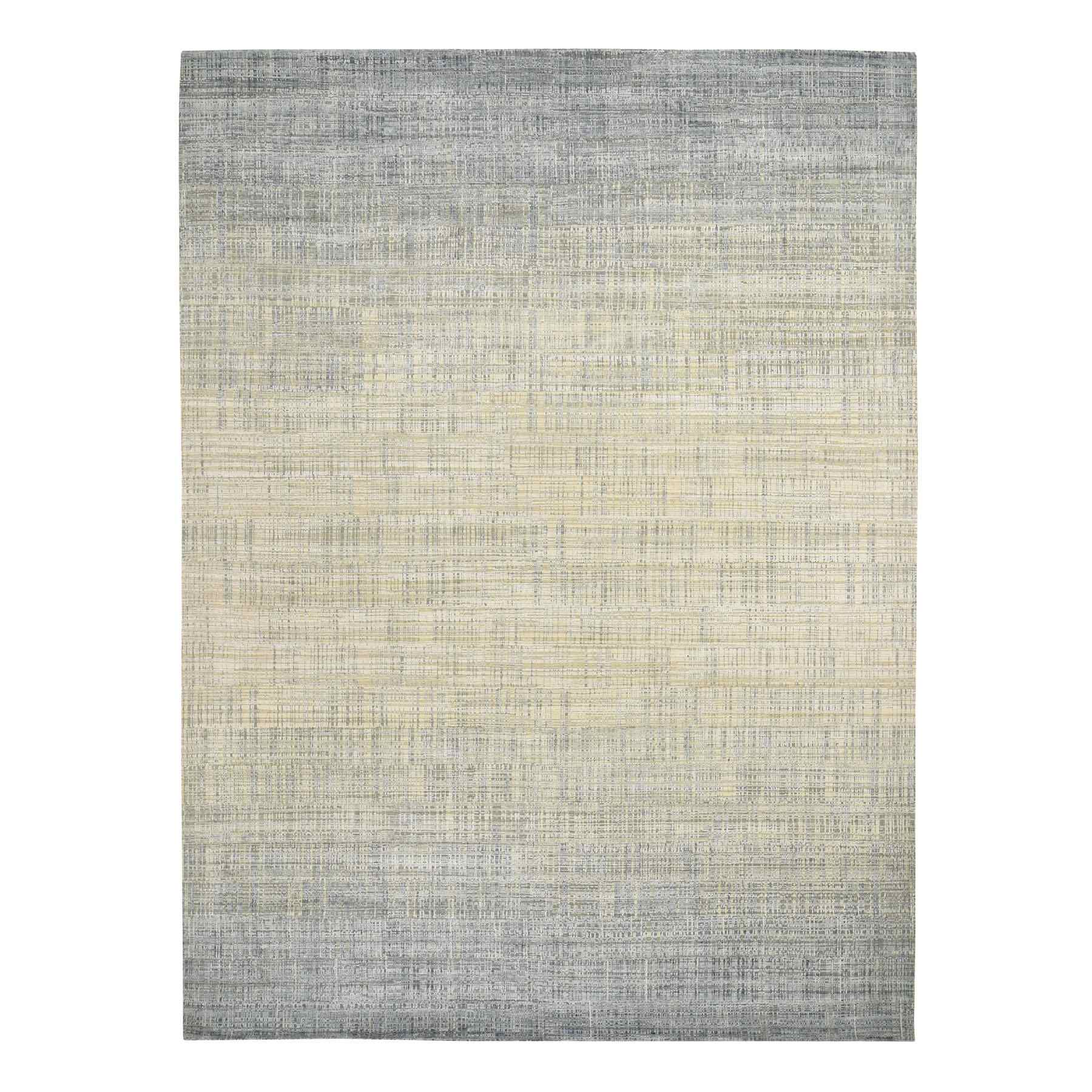 Mid Century Modern Collection Hand Knotted Ivory Rug No: 0195476