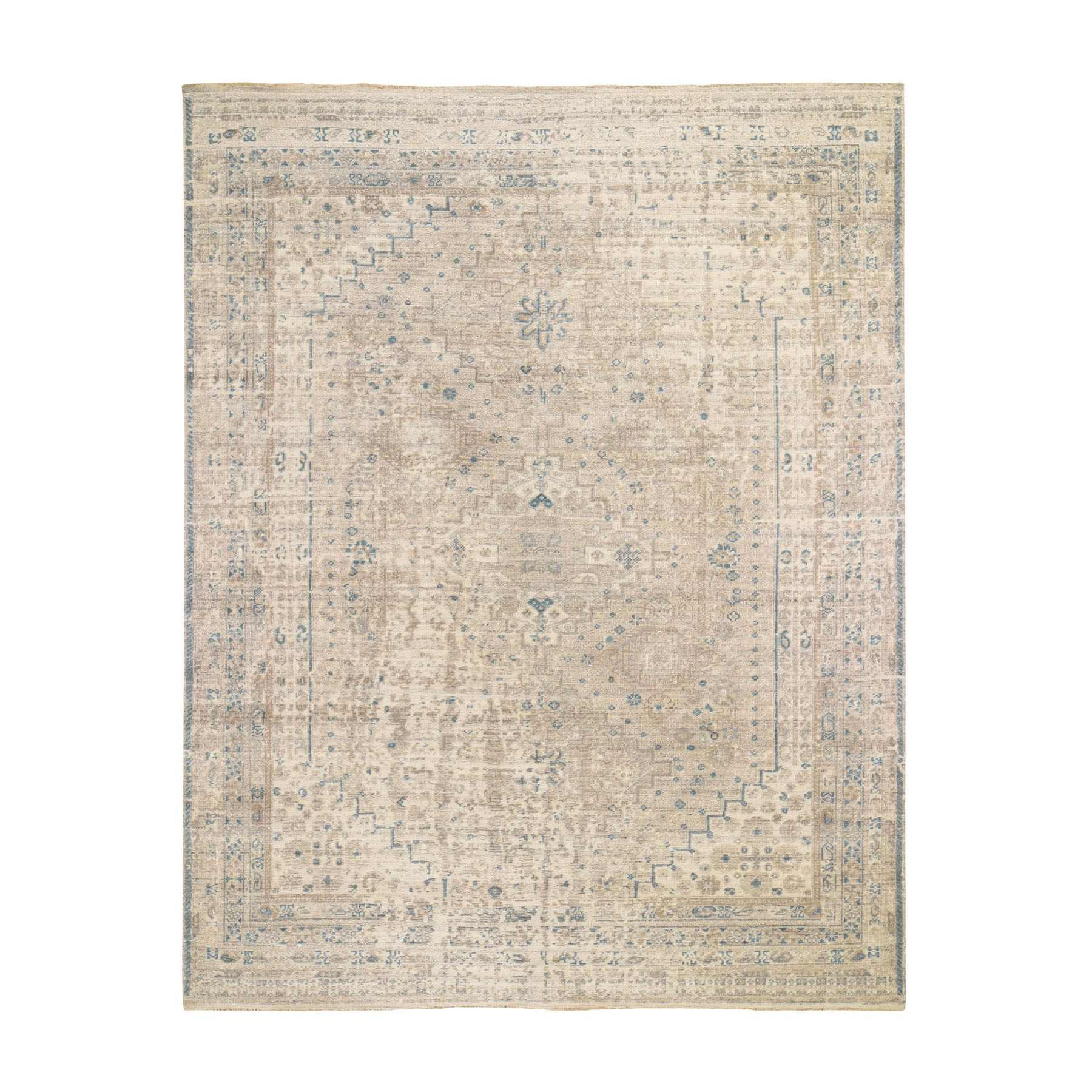 Transitional Hand Knotted Brown Rug No: 0195480
