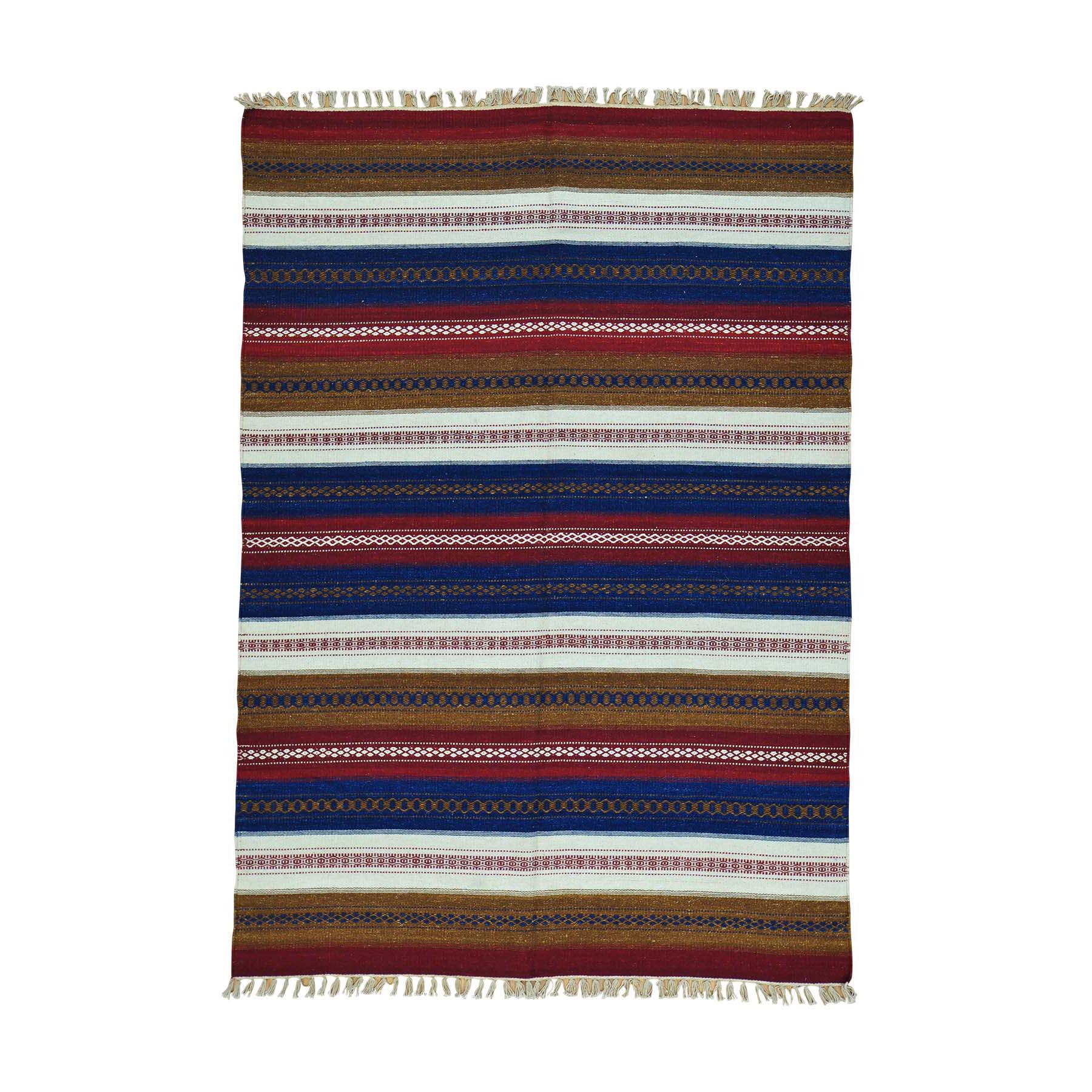 Fine Kilim Collection Hand Woven Multicolored Rug No: 0160160