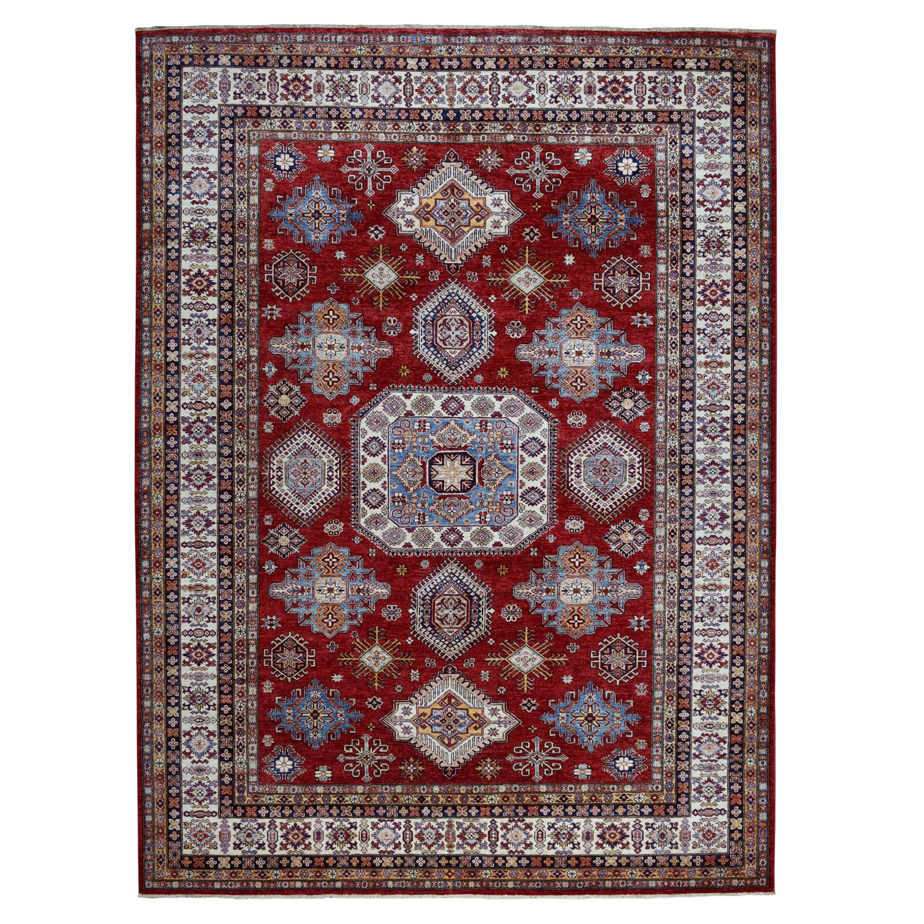 Caucasian Collection Hand Knotted Red Rug No: 01103534