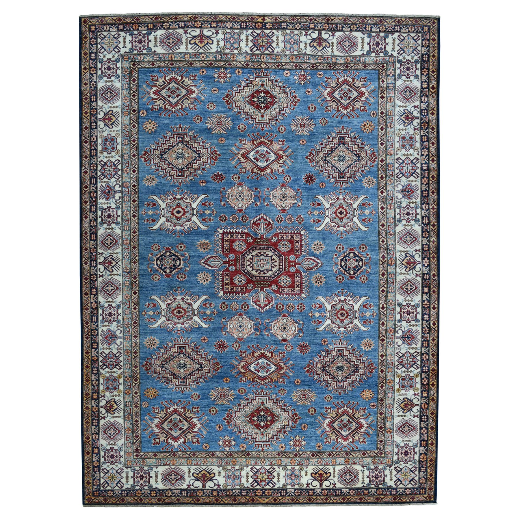 Caucasian Collection Hand Knotted Blue Rug No: 01103536