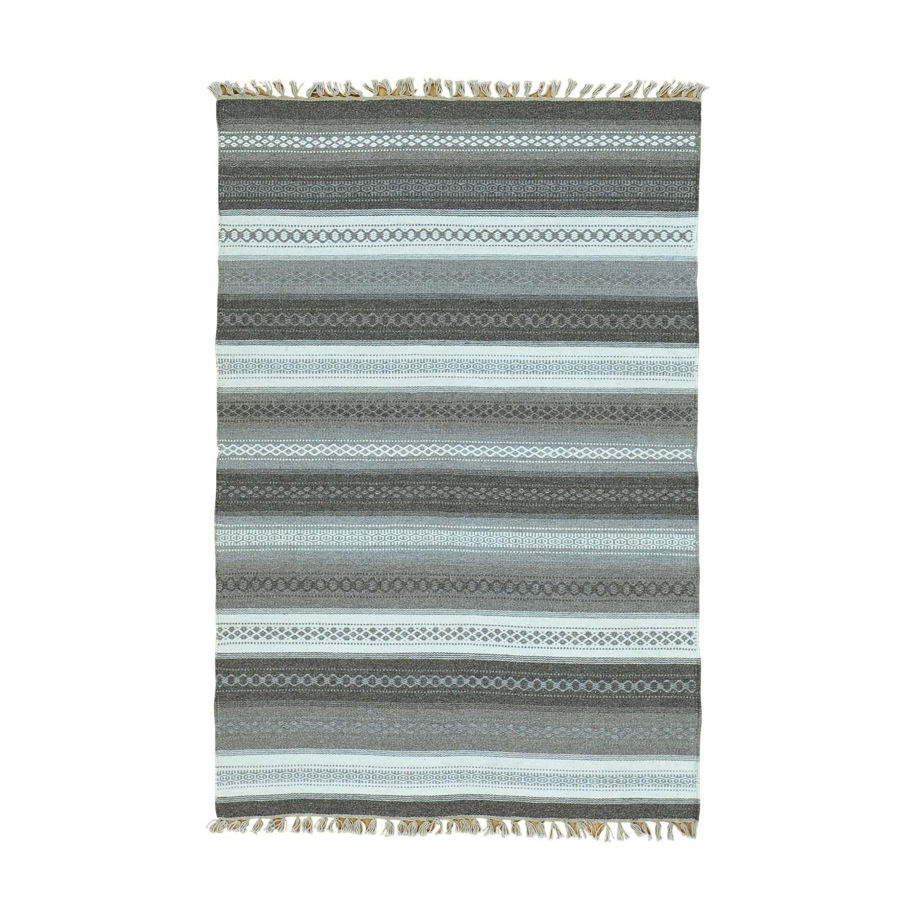 Fine Kilim Collection Hand Woven Multicolored Rug No: 0160158