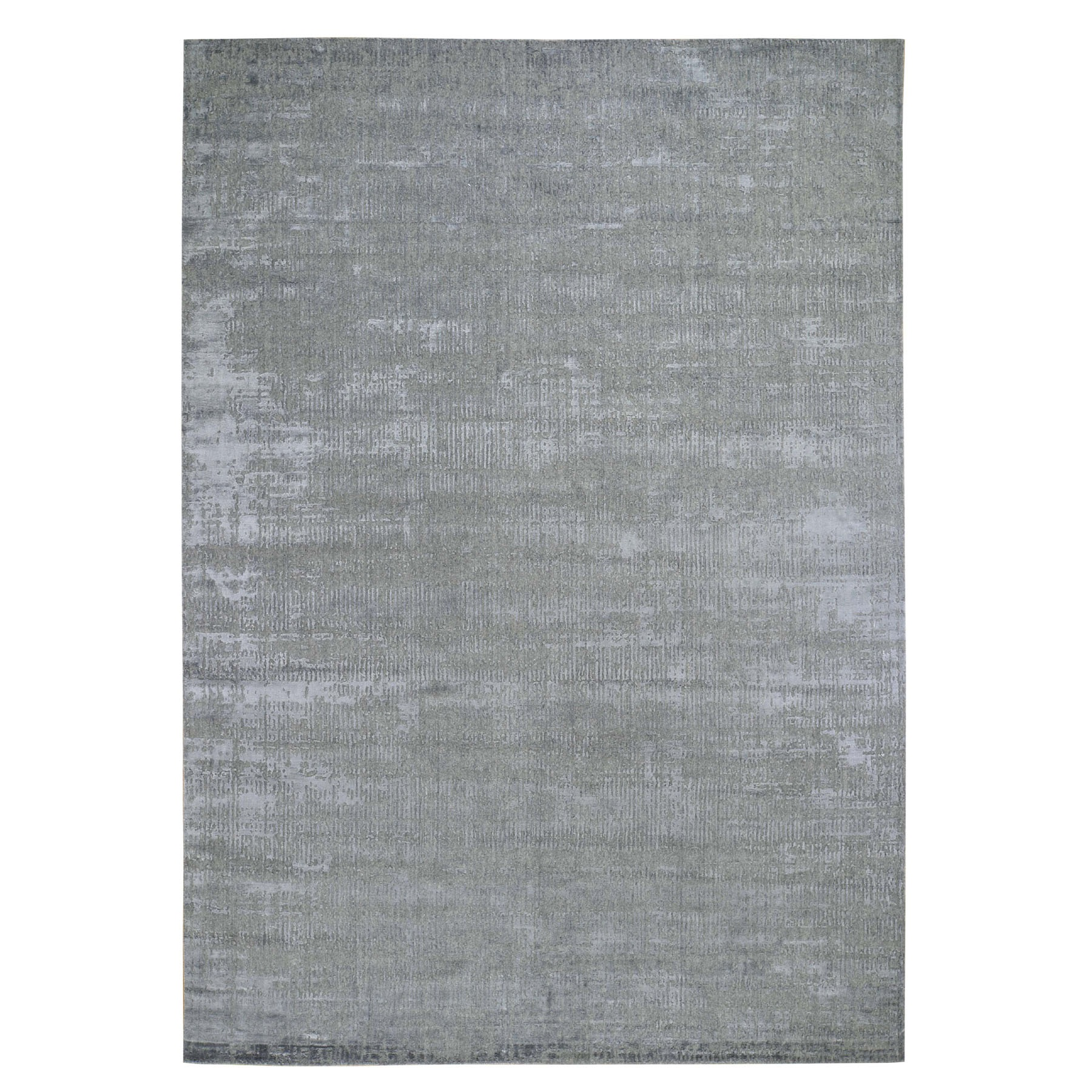 Mid Century Modern Collection Hand Loomed Grey Rug No: 0195544