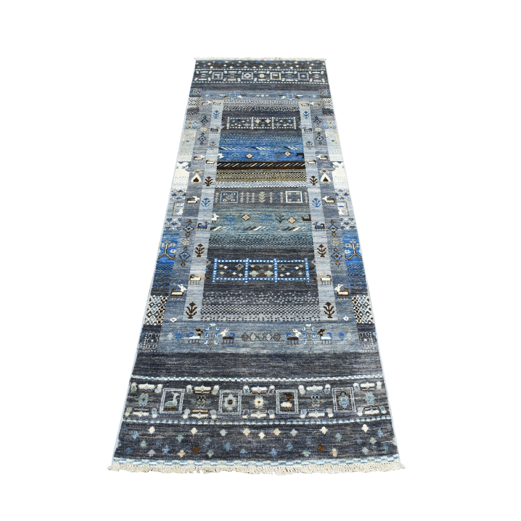 Nomadic And Village Collection Hand Knotted Grey Rug No: 01103660