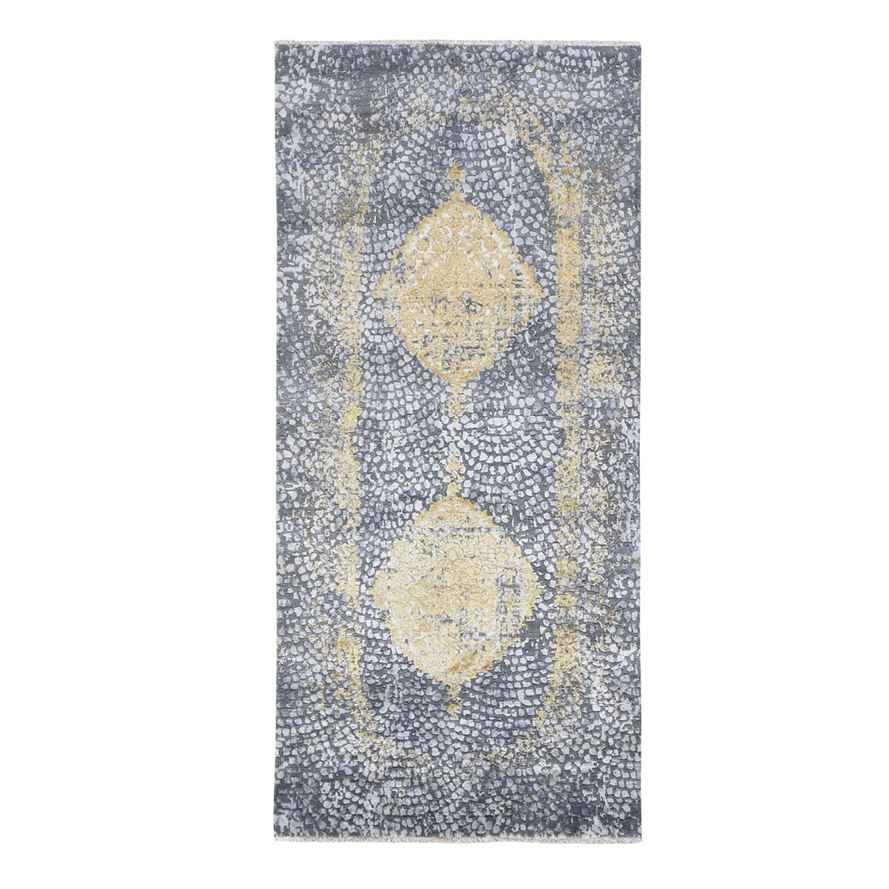 Transitional Hand Knotted Grey Rug No: 0195602