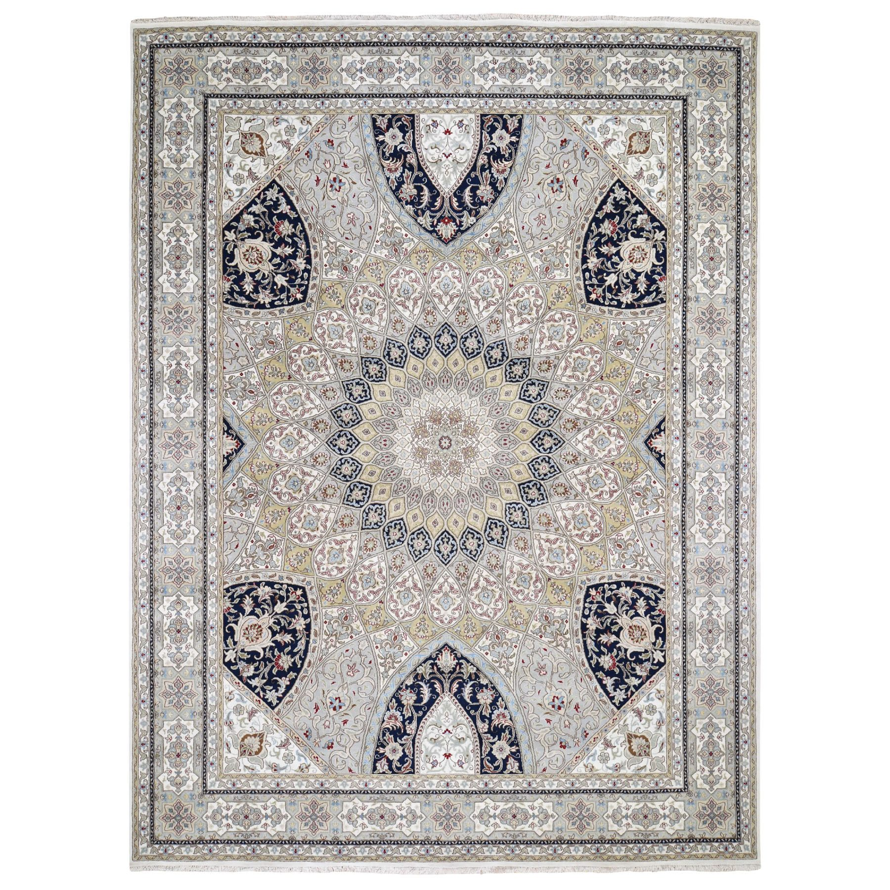 Pirniakan Collection Hand Knotted Grey Rug No: 0195618