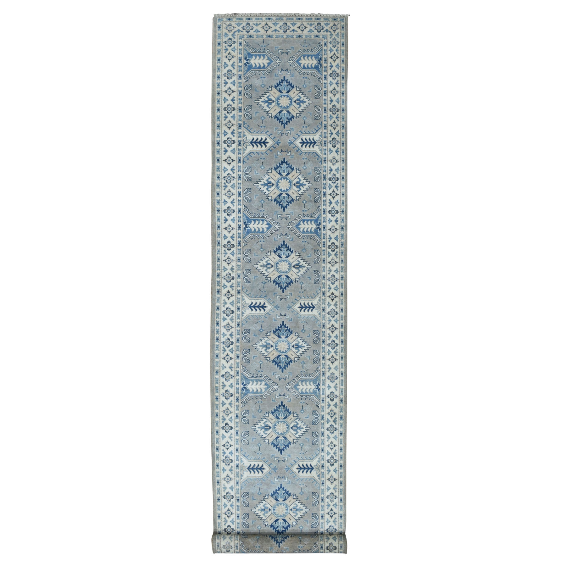 Caucasian Collection Hand Knotted Grey Rug No: 01104026