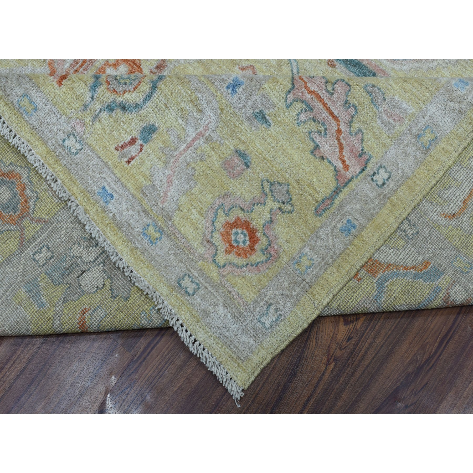 Agra And Turkish Collection Hand Knotted Yellow 01105422 Rug