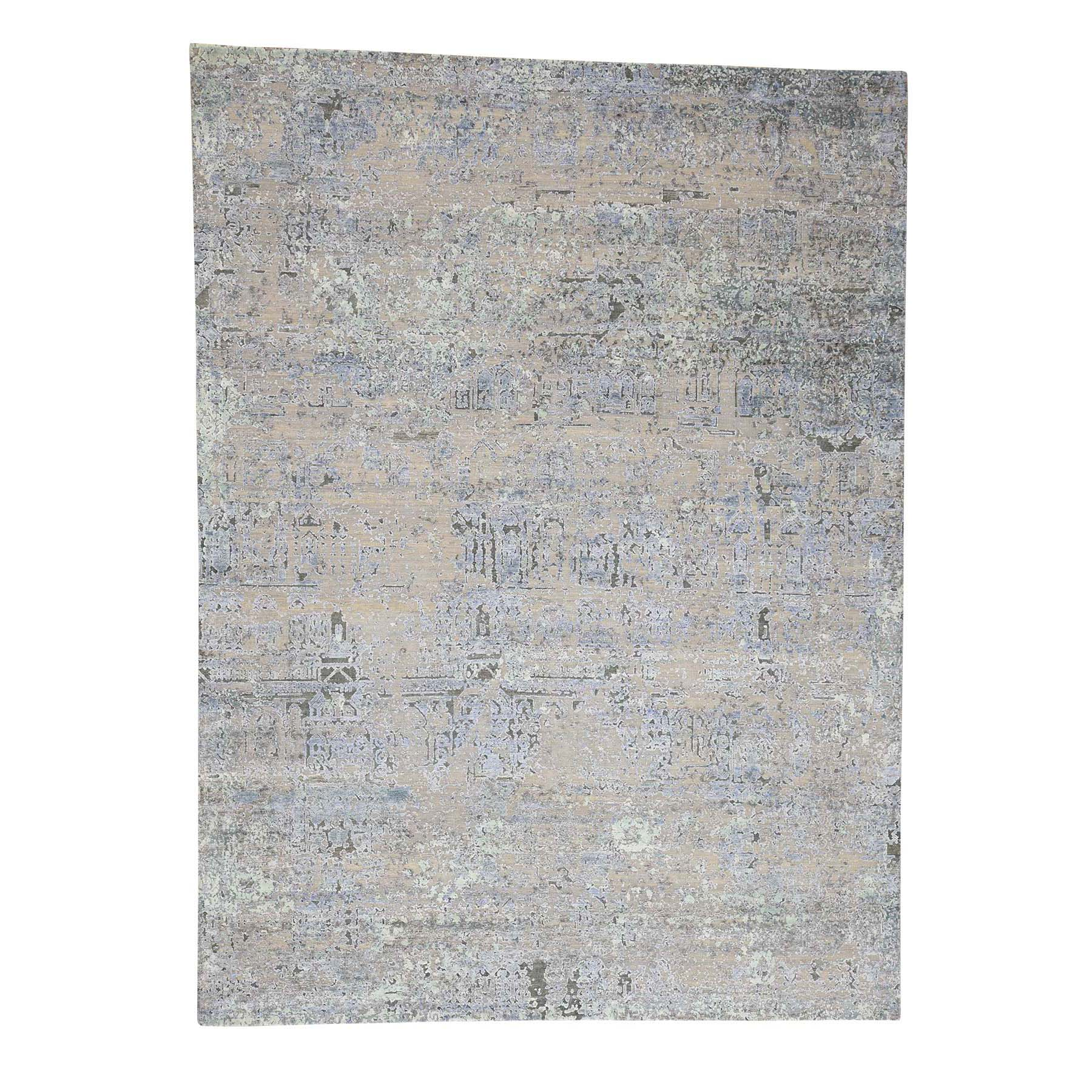 Mid Century Modern Collection Hand Knotted Beige Rug No: 0181104