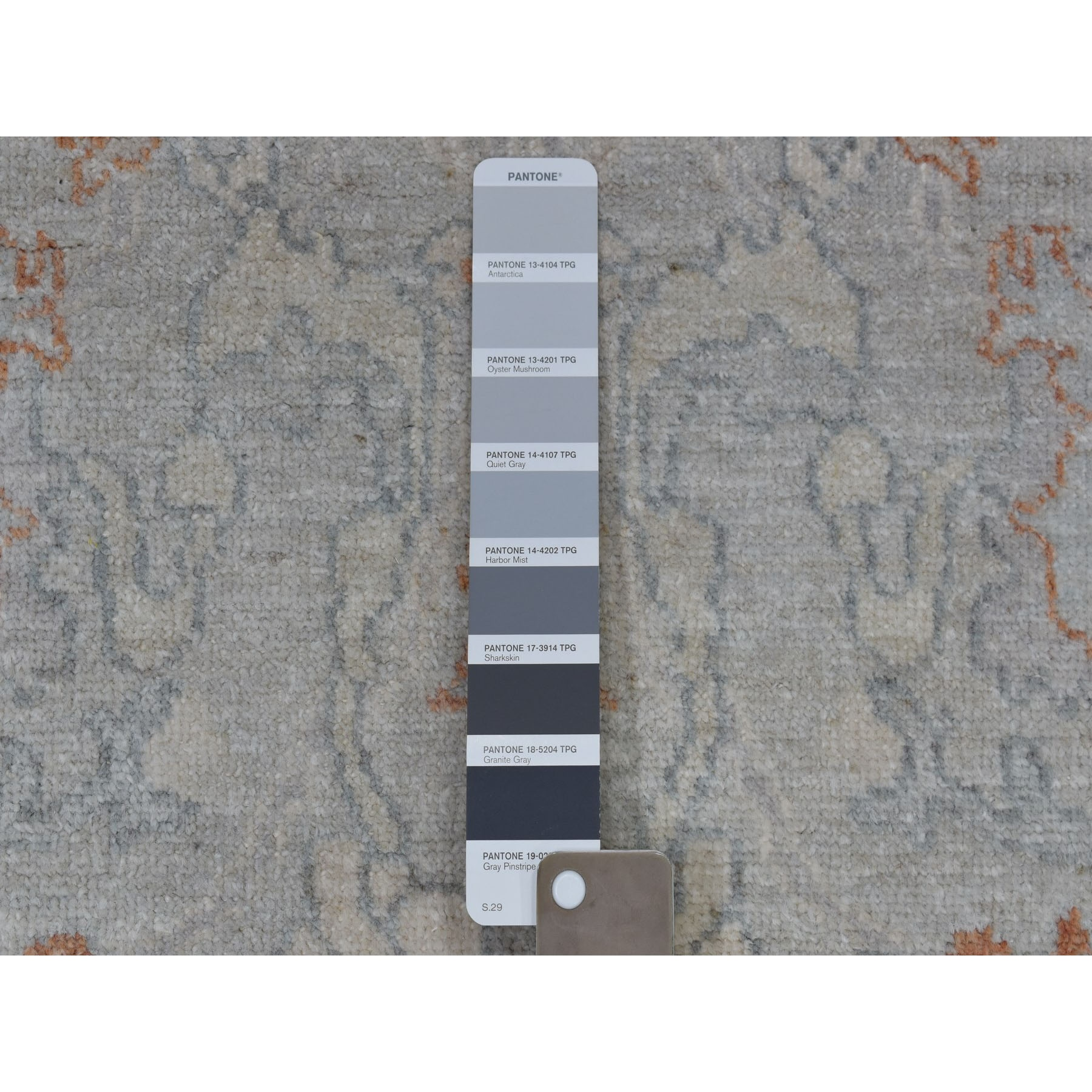 Agra And Turkish Collection Hand Knotted Grey 01105066 Rug