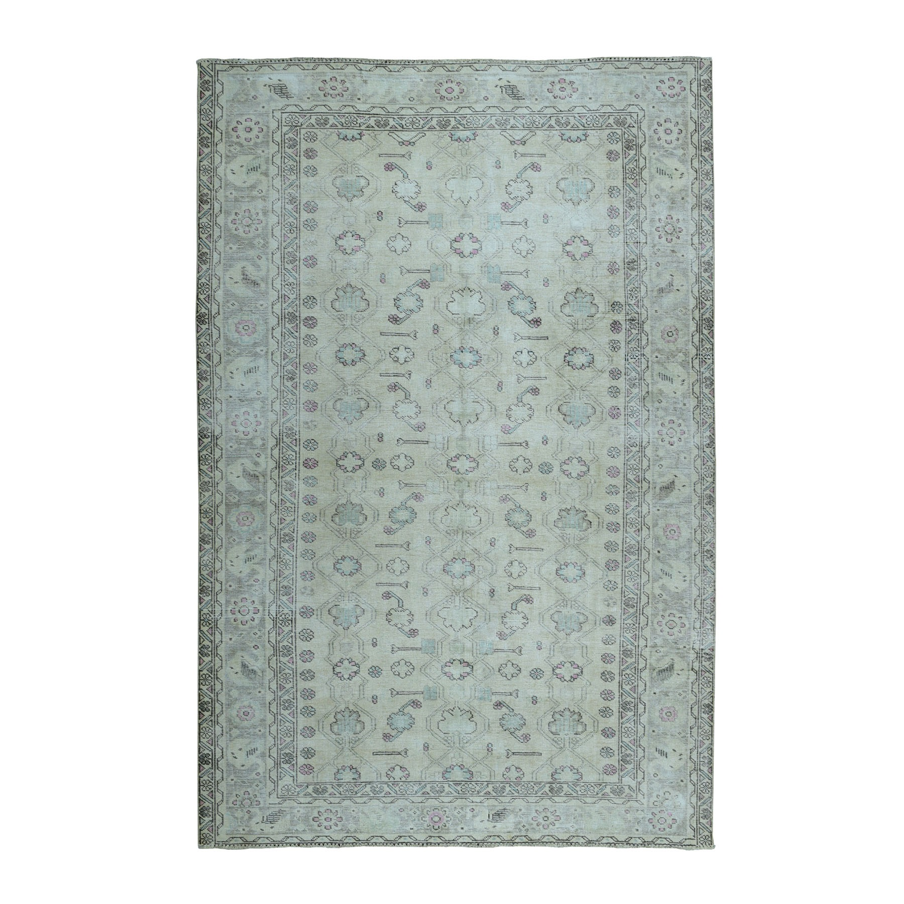 Fetneh Collection And Vintage Overdyed Collection Hand Knotted Grey Rug No: 01104258