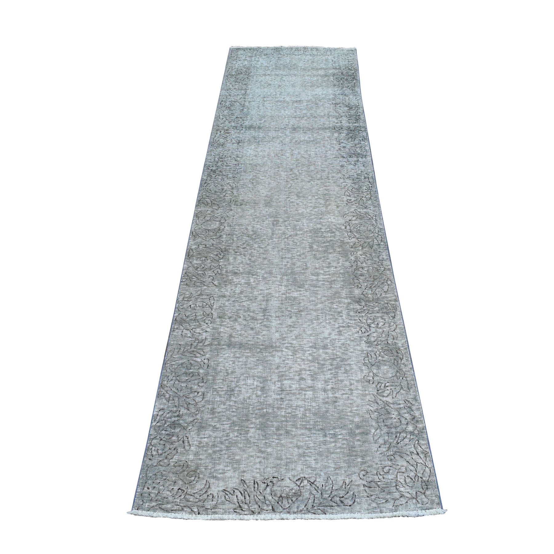 Fetneh Collection And Vintage Overdyed Collection Hand Knotted Grey Rug No: 01104272
