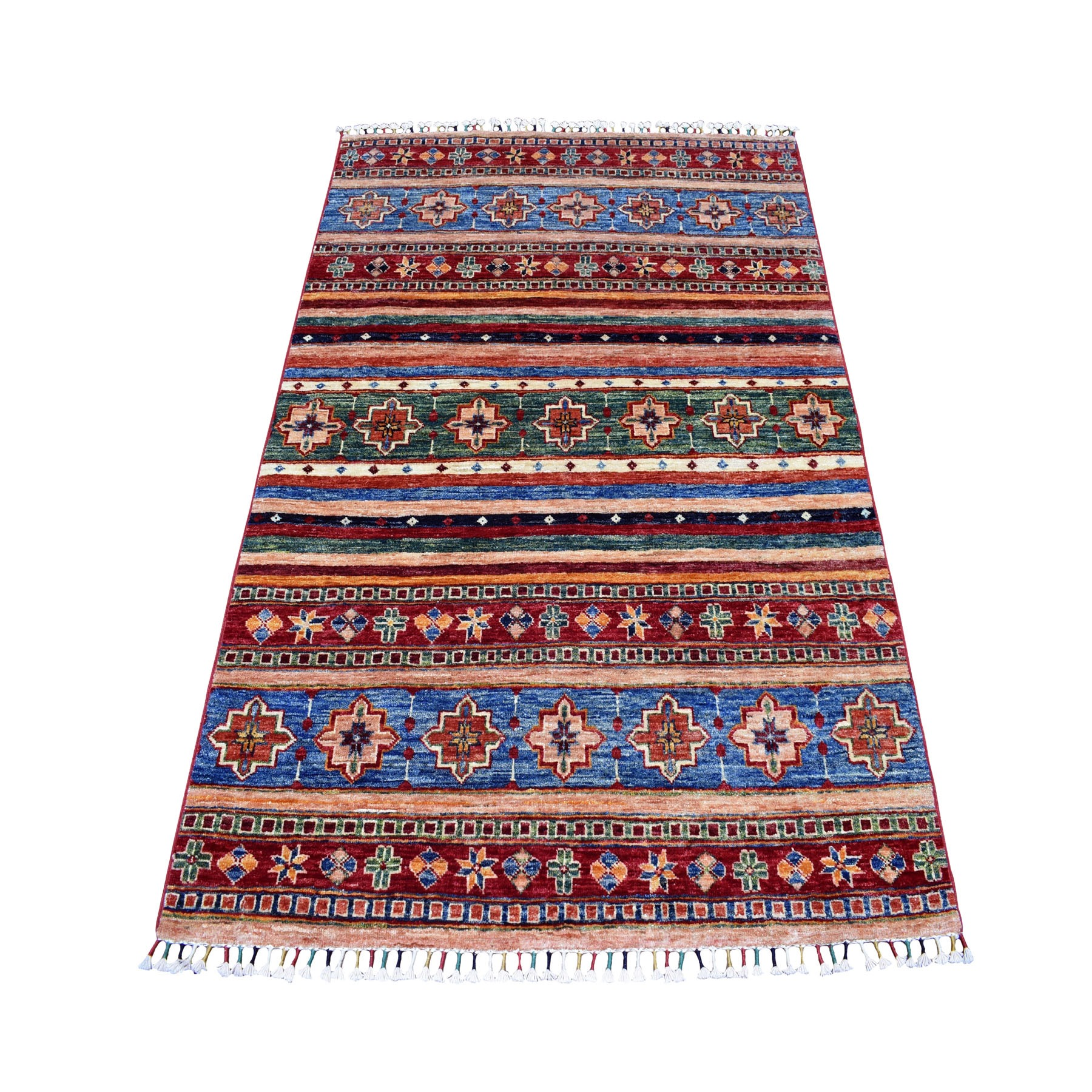 Caucasian Collection Hand Knotted Multicolored Rug No: 01105080