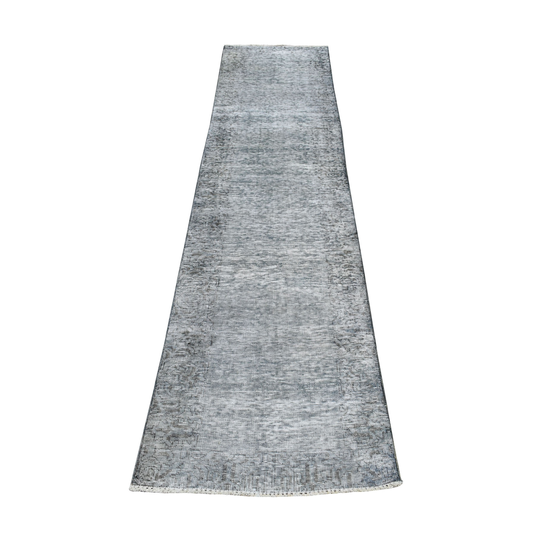 Fetneh Collection And Vintage Overdyed Collection Hand Knotted Grey Rug No: 01104280