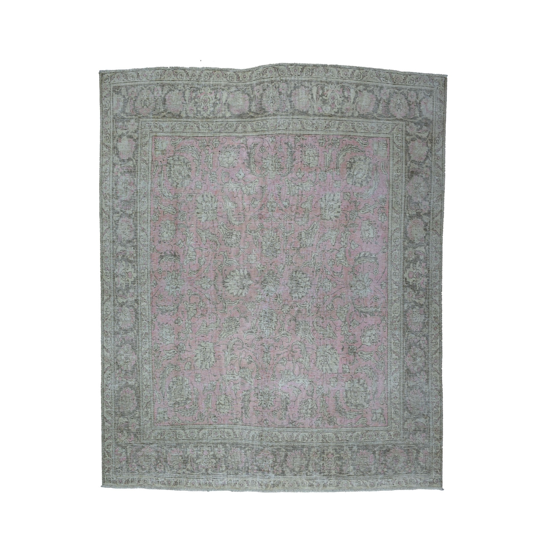 Fetneh Collection And Vintage Overdyed Collection Hand Knotted Pink Rug No: 1104290
