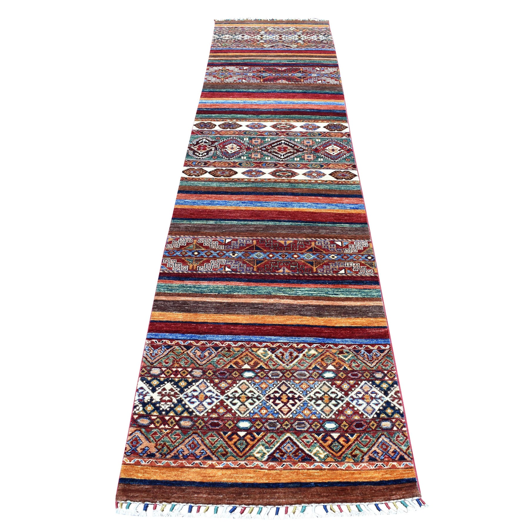 Caucasian Collection Hand Knotted Multicolored Rug No: 01105108