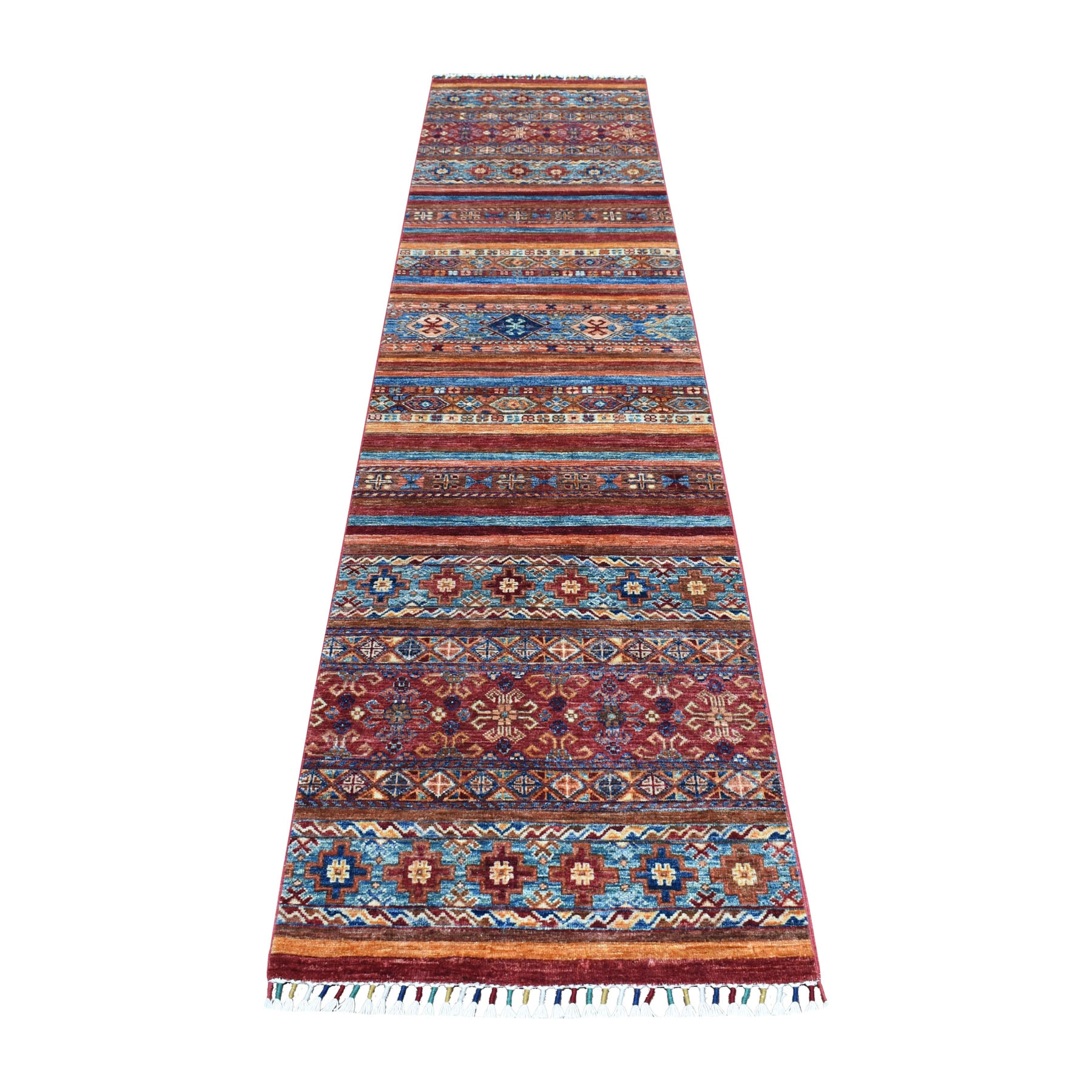 Caucasian Collection Hand Knotted Multicolored Rug No: 01104096