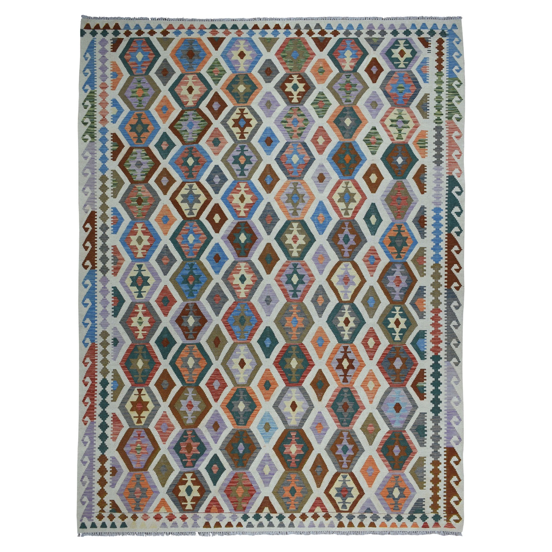Fine Kilim Collection Hand Woven Multicolored Rug No: 1104442