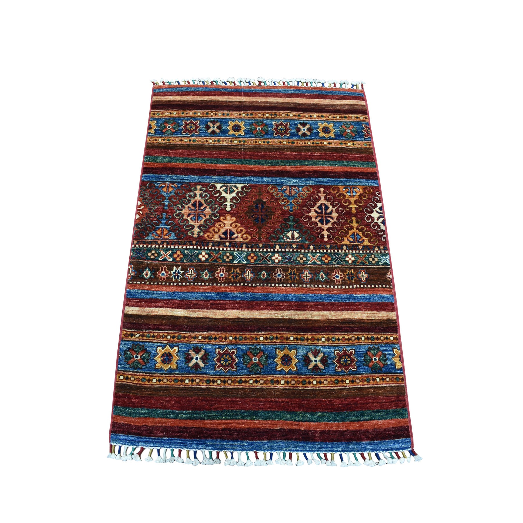 Caucasian Collection Hand Knotted Multicolored Rug No: 1104494