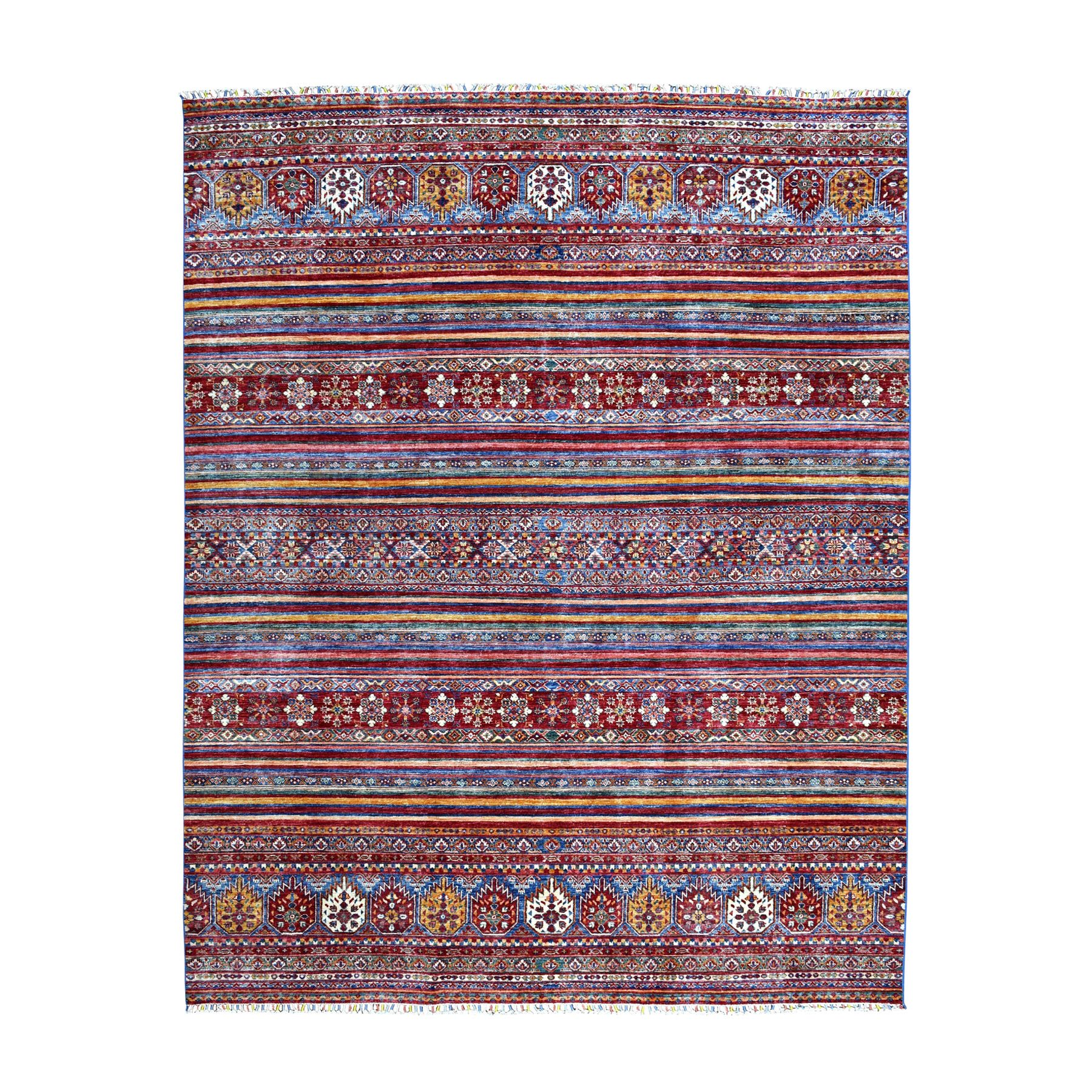 Caucasian Collection Hand Knotted Multicolored Rug No: 1104506