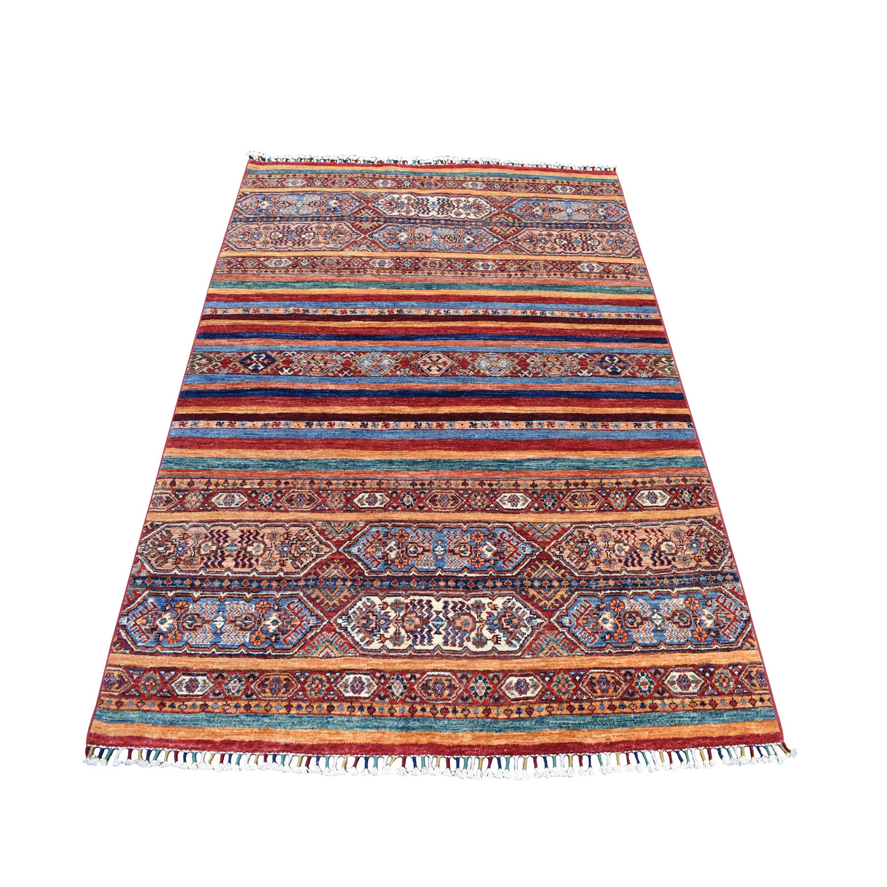 Caucasian Collection Hand Knotted Multicolored Rug No: 01104522