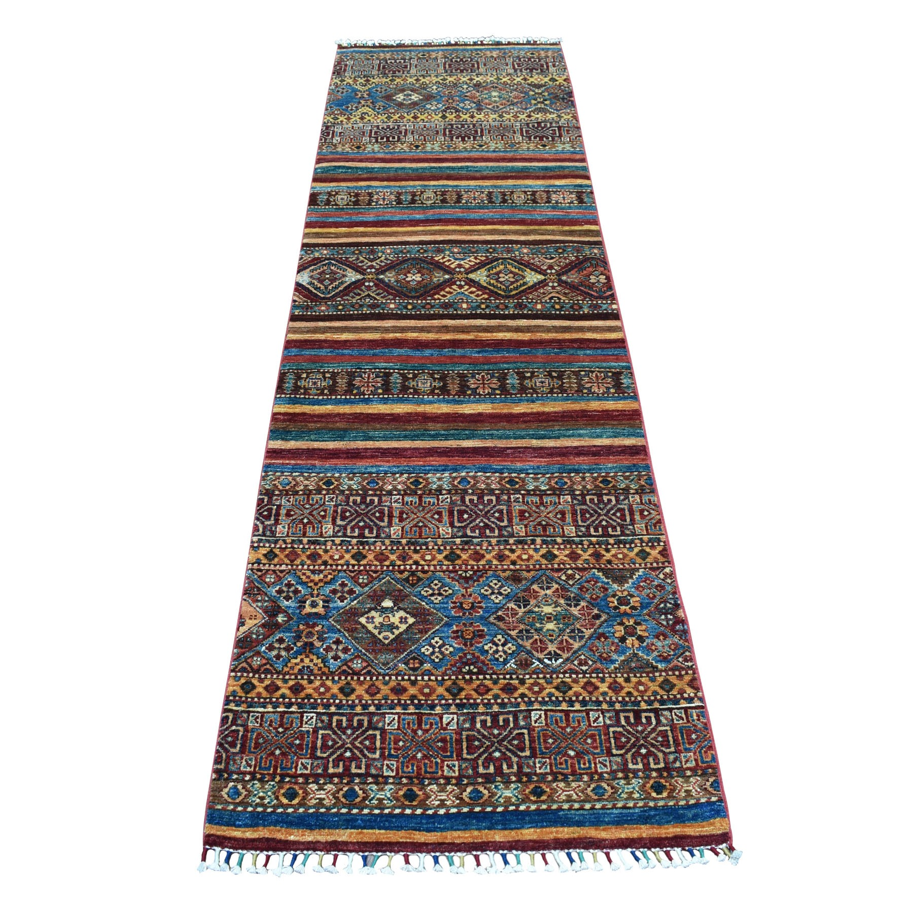 Caucasian Collection Hand Knotted Multicolored Rug No: 01104526