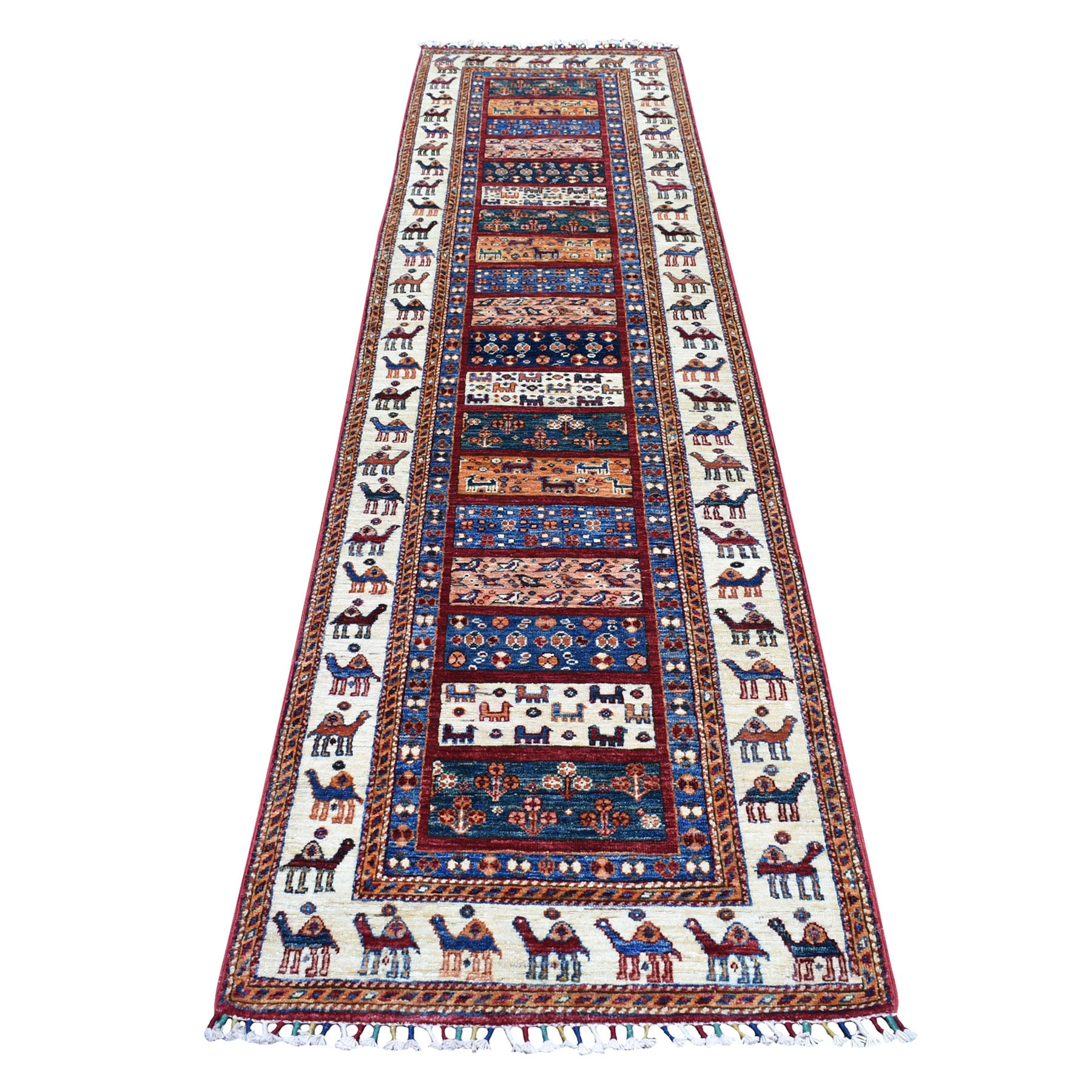 Caucasian Collection Hand Knotted Multicolored Rug No: 01104530