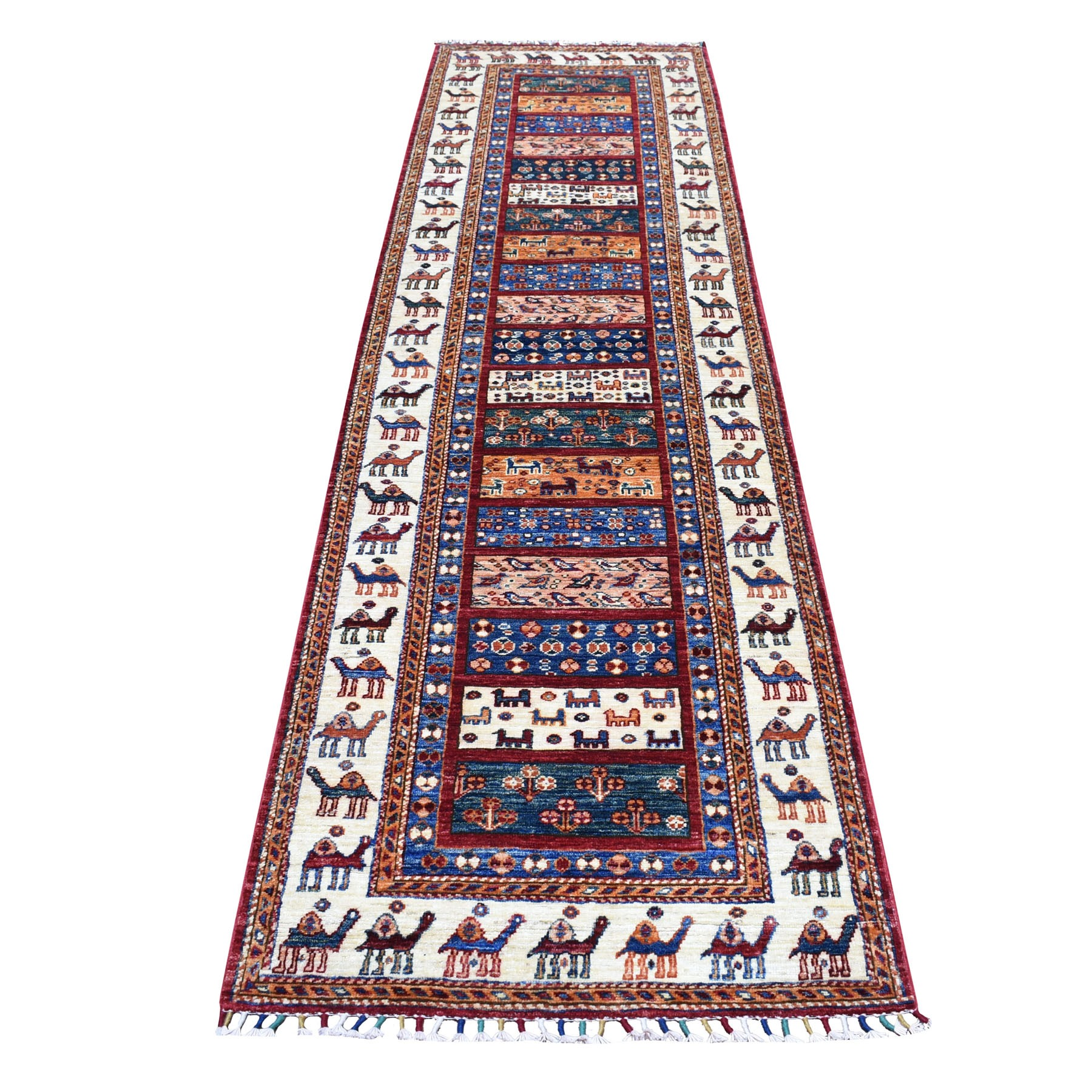 Caucasian Collection Hand Knotted Multicolored Rug No: 01104534