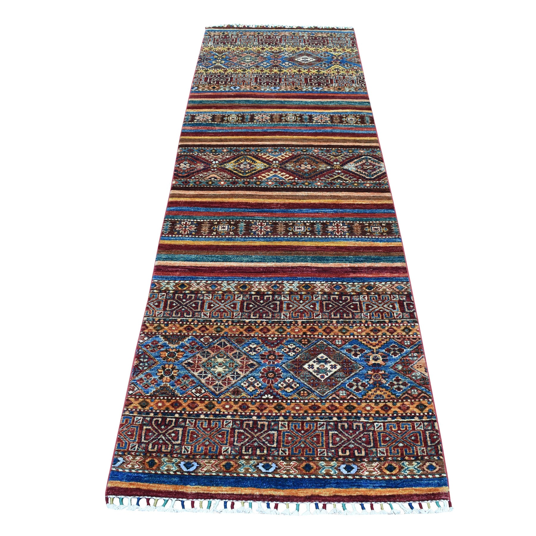 Caucasian Collection Hand Knotted Multicolored Rug No: 01104536