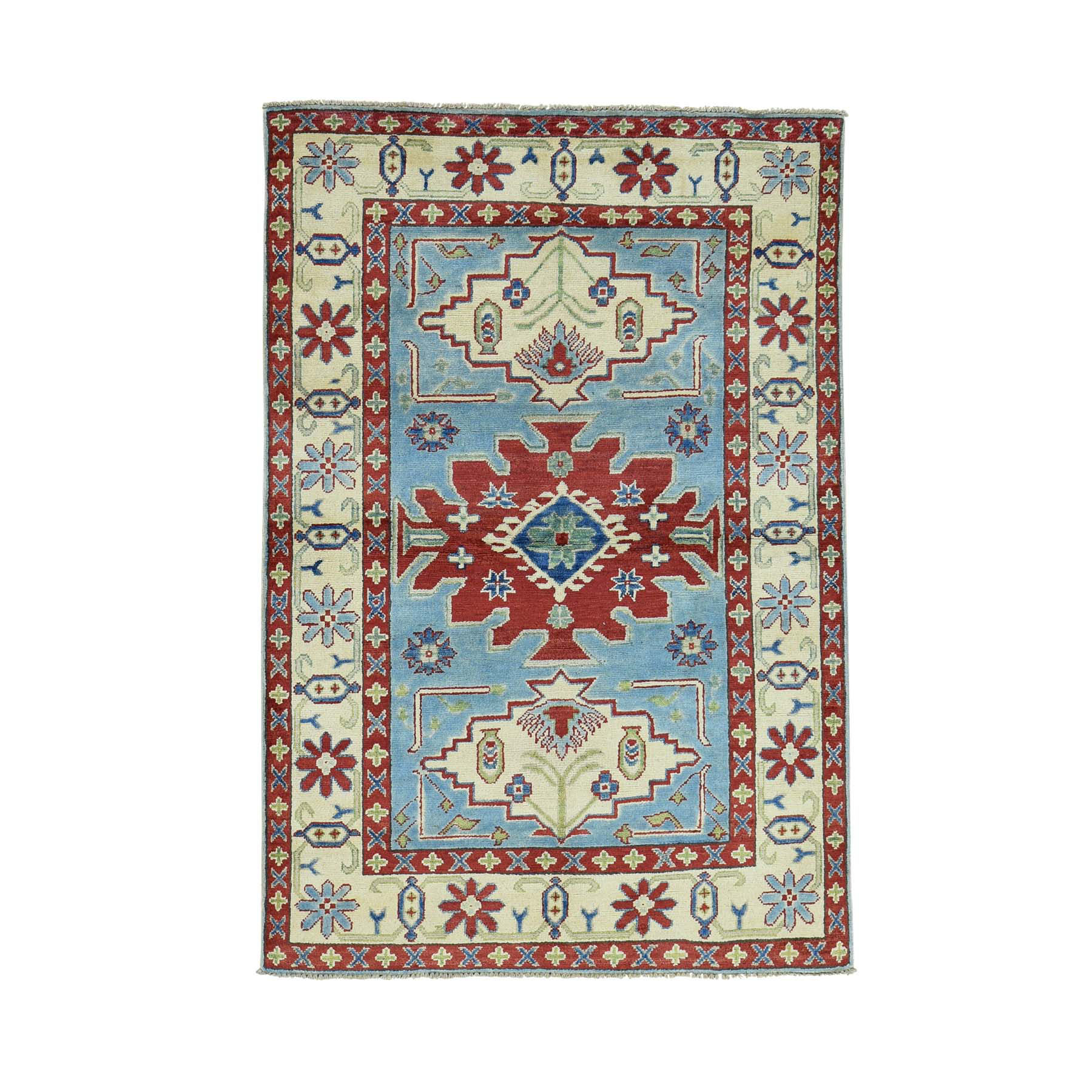 Caucasian Collection Hand Knotted Blue Rug No: 0160446