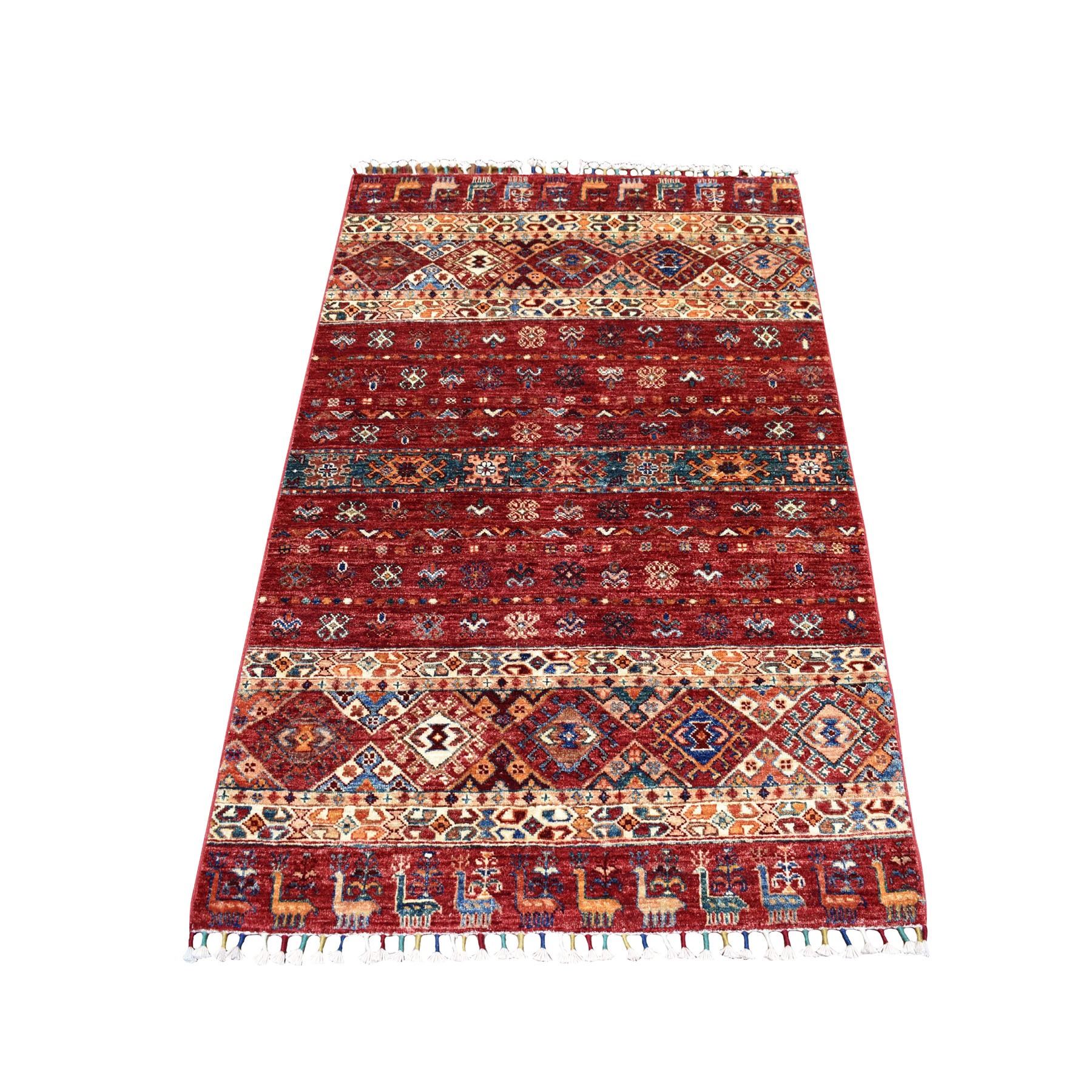 Caucasian Collection Hand Knotted Multicolored Rug No: 01104618