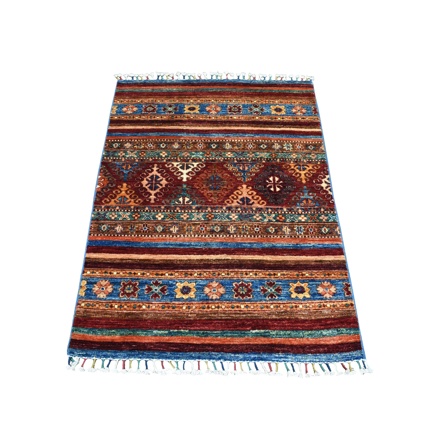 Caucasian Collection Hand Knotted Multicolored Rug No: 01104642