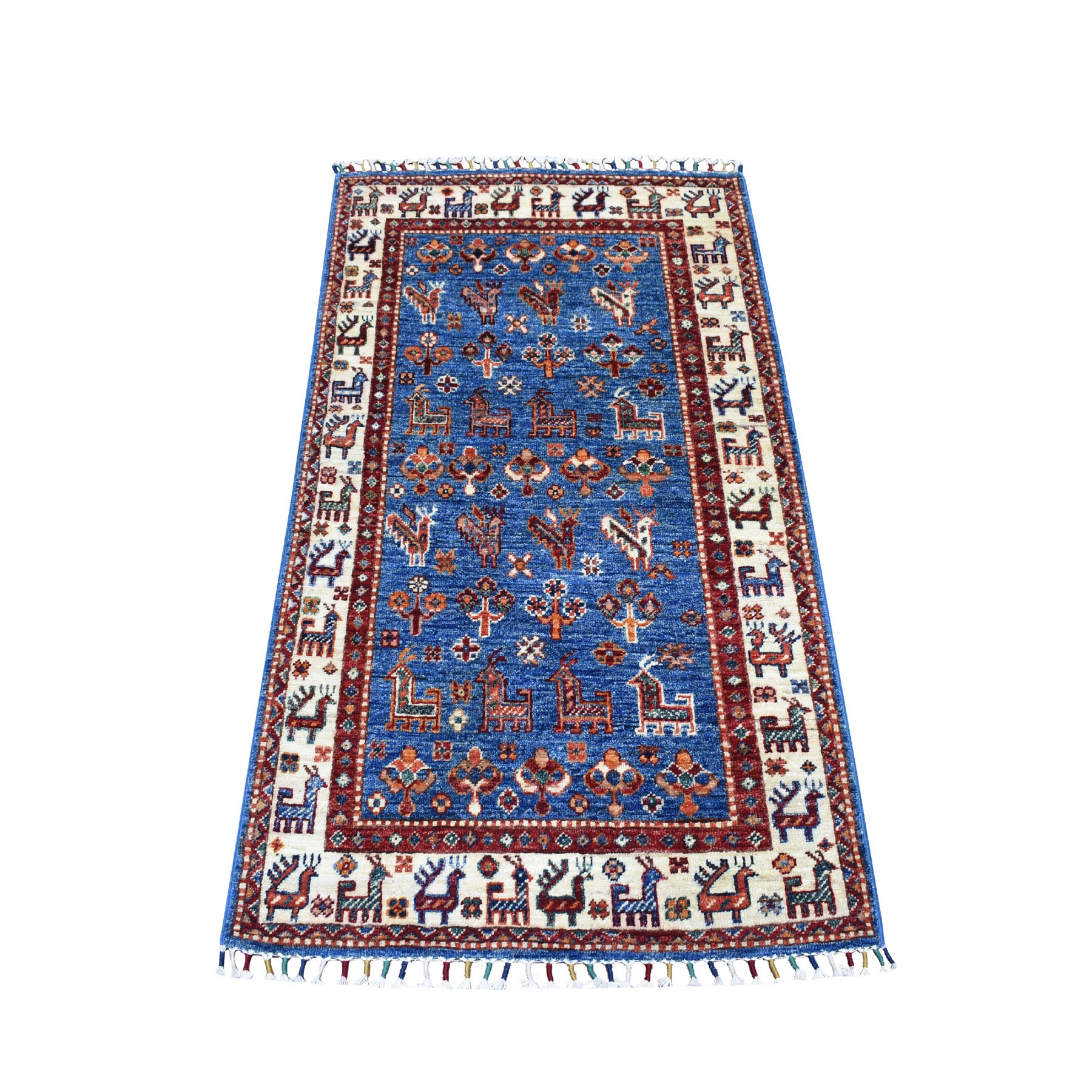 Caucasian Collection Hand Knotted Multicolored Rug No: 01104648